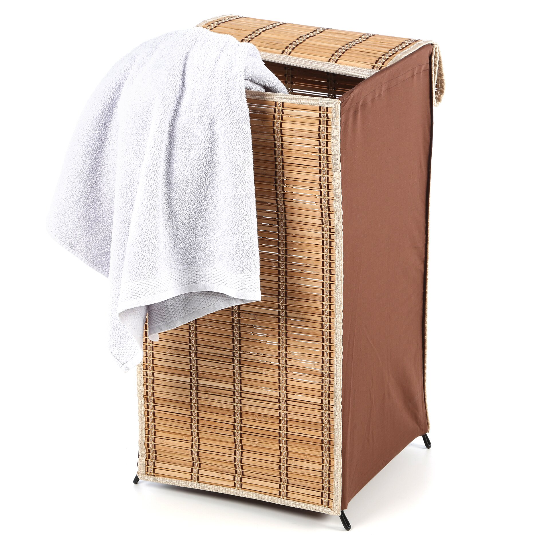 Honey can do tall wicker laundry hamper reviews wayfair - Rattan clothes hamper ...