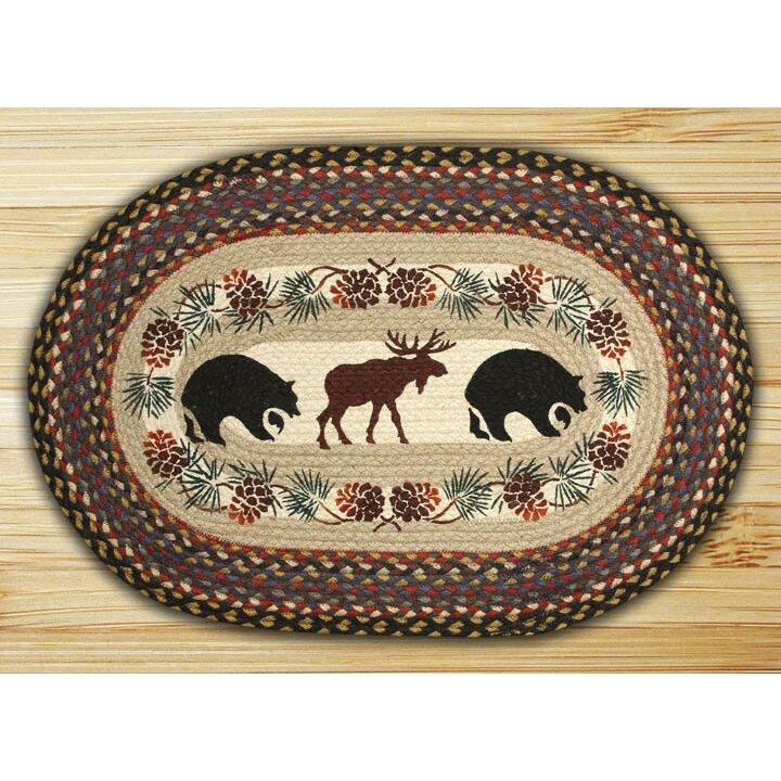 EarthRugs Bear/Moose Printed Area Rug & Reviews