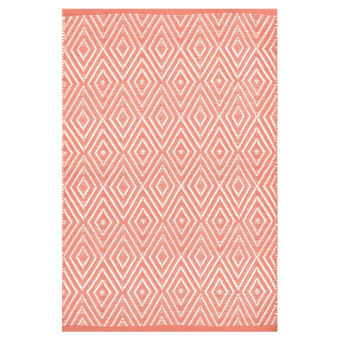 Dash and albert rugs diamond hand woven pink indoor for Dash and albert indoor outdoor rugs