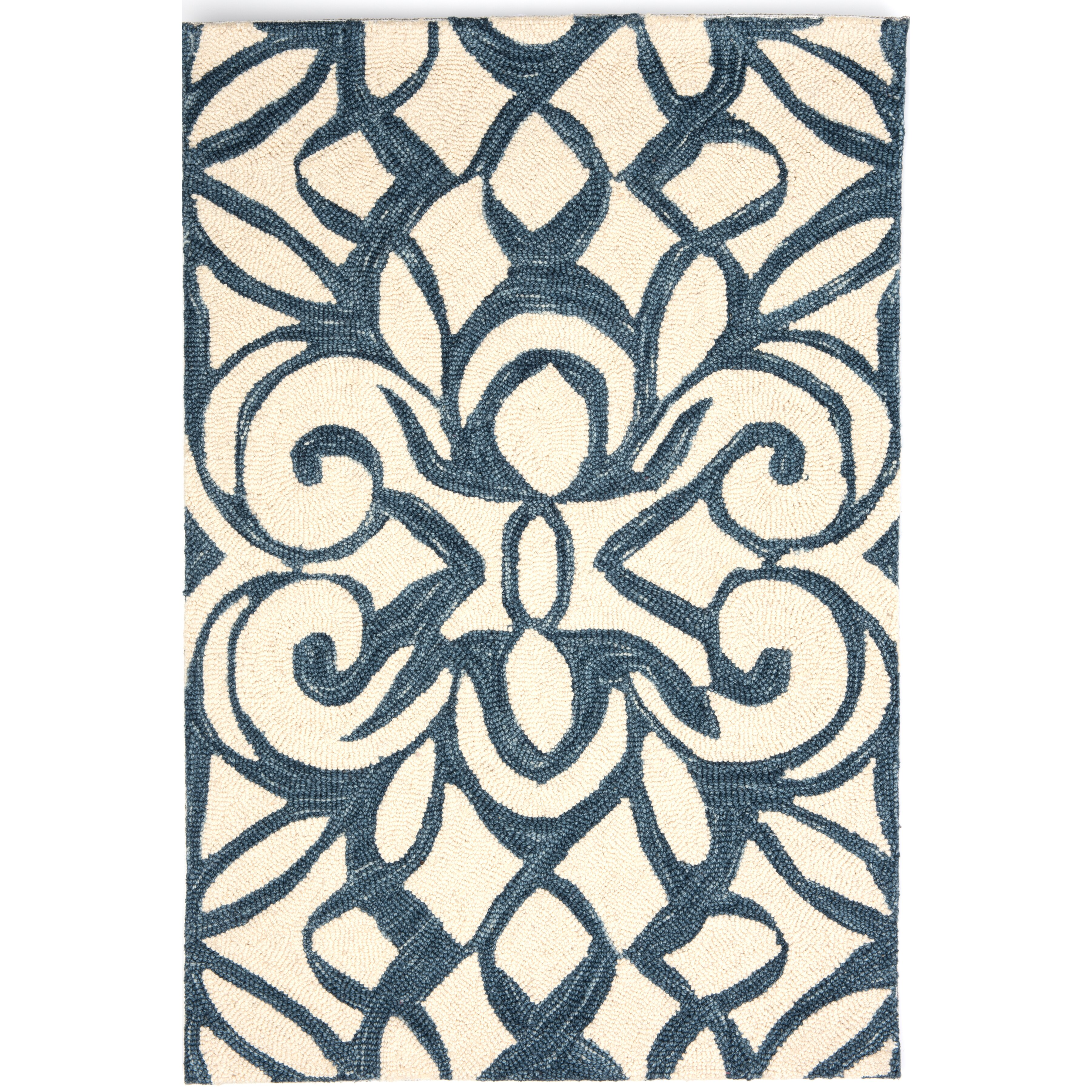 Dash and albert rugs hooked blue white area rug reviews for Dash and albert wool rugs
