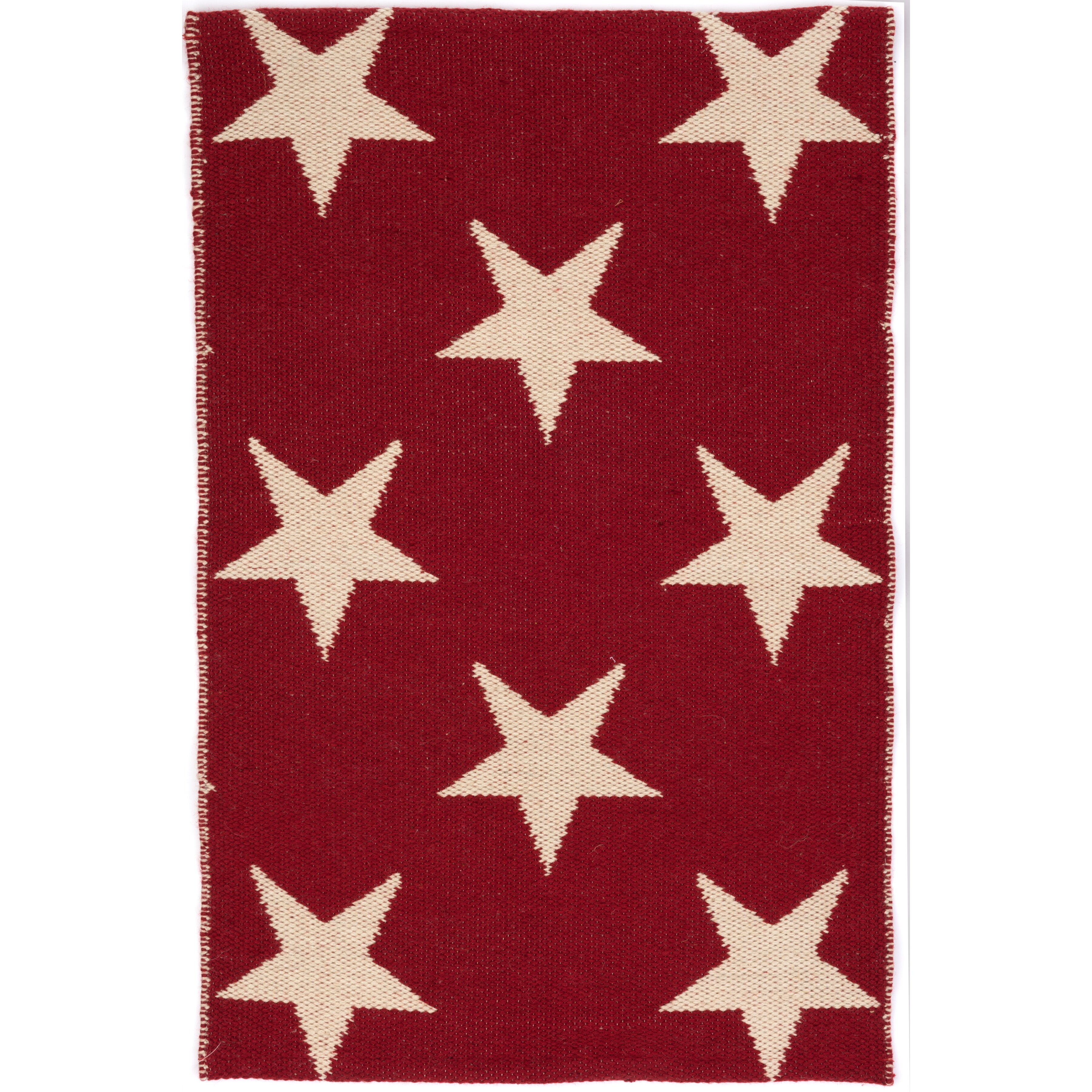 Dash And Albert Rugs Star Hand Woven Red White Indoor