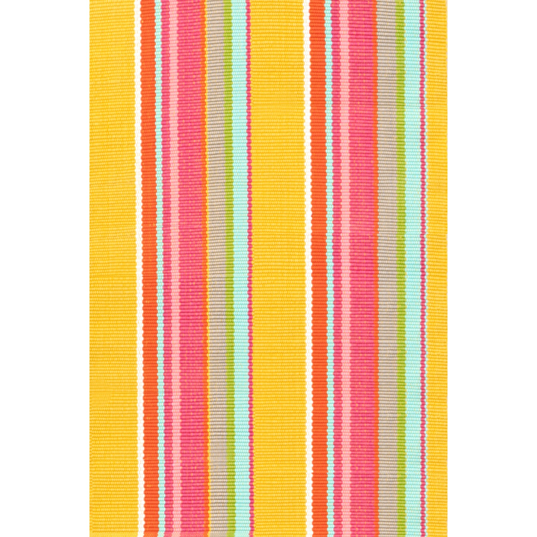 dash and albert rugs hand woven yellow pink indoor outdoor area rug reviews wayfair. Black Bedroom Furniture Sets. Home Design Ideas