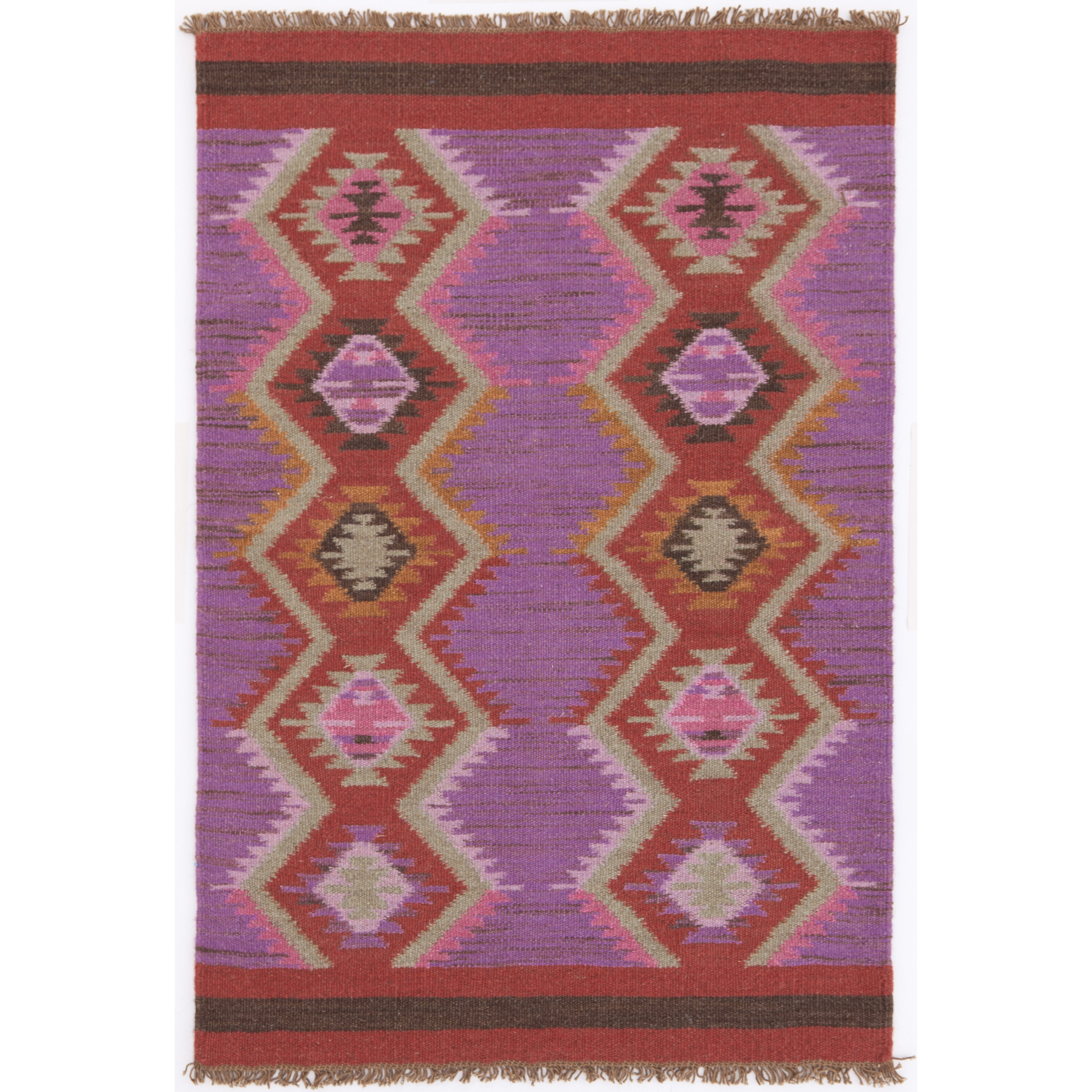 Dash and albert rugs hand woven purple red area rug for Dash and albert wool rugs