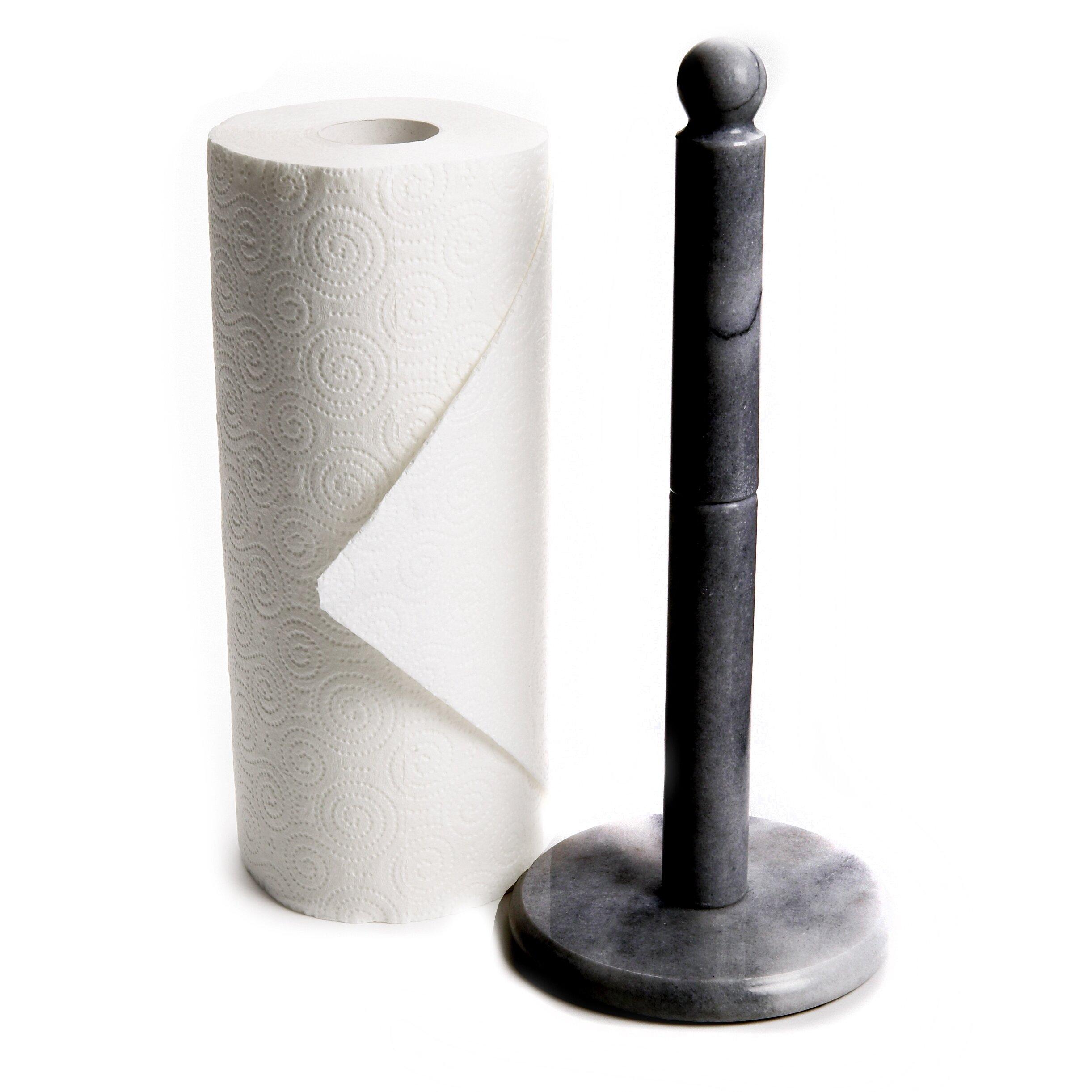 Fox Run Craftsmen Marble Paper Towel Holder In Black