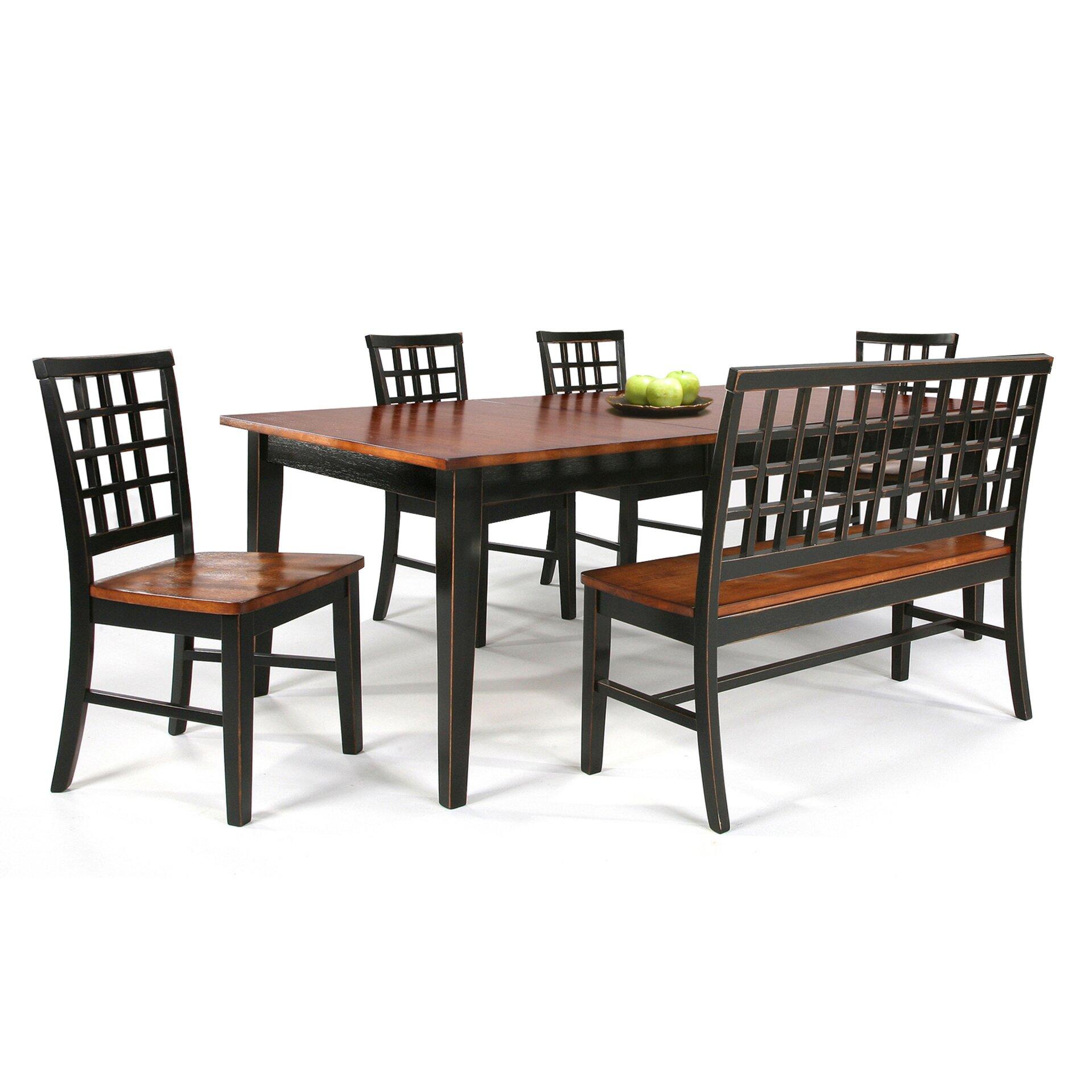 Imagio home arlington two seat bench reviews wayfair - Table benches kitchen ...