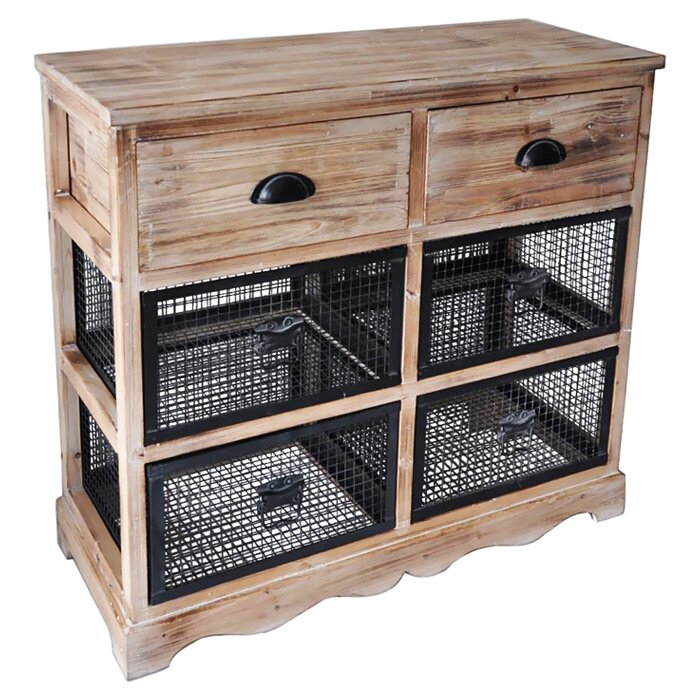 Wire Drawers For Kitchen Cabinets: Cheungs 6 Drawer Wire Cabinet & Reviews