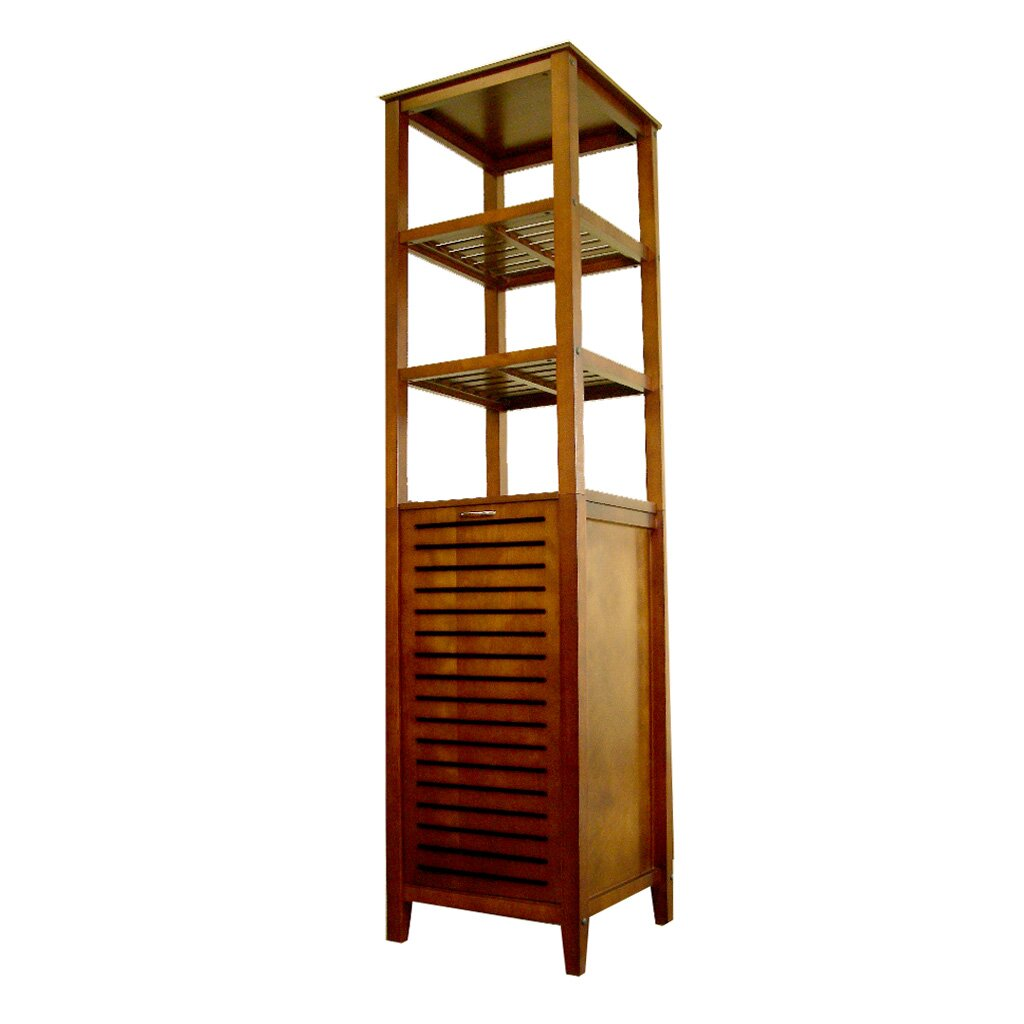 Kitchen Storage Cabinets Free Standing Proman 16 5 Quot X 66 25 Quot Free Standing Linen Tower Amp Reviews