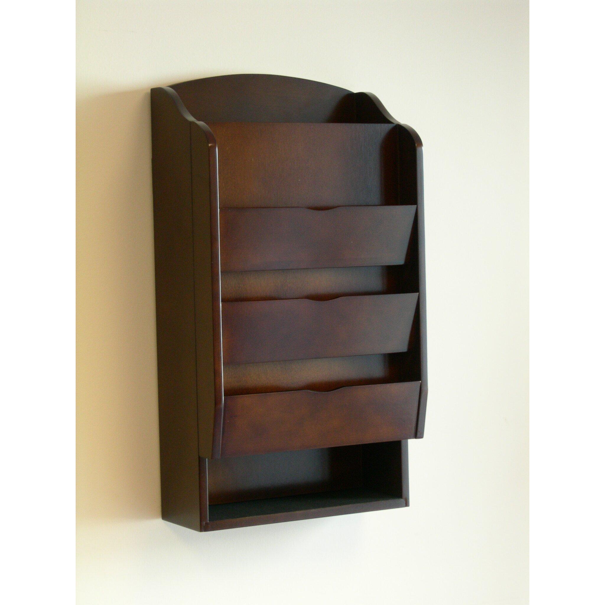 proman door entry organizer with mail sorter in dark. Black Bedroom Furniture Sets. Home Design Ideas
