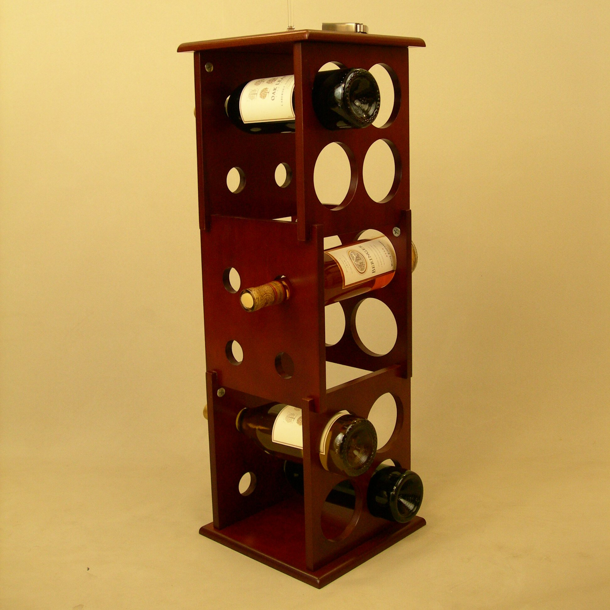 Proman fuji 12 bottle floor wine rack reviews wayfair for Floor wine rack