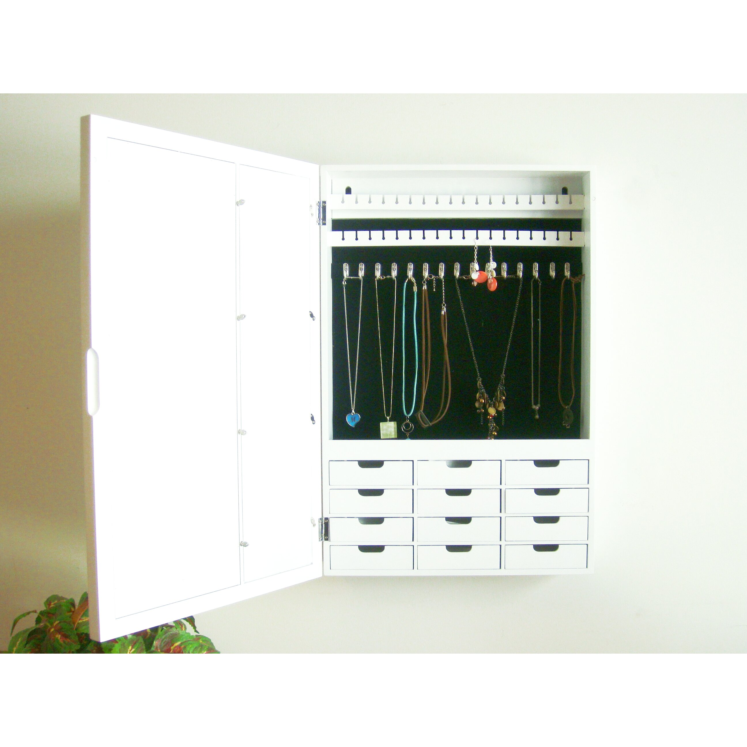 Jewelry Cabinets. Cool Jewelry Closet Wall Mounted Jewelry ...