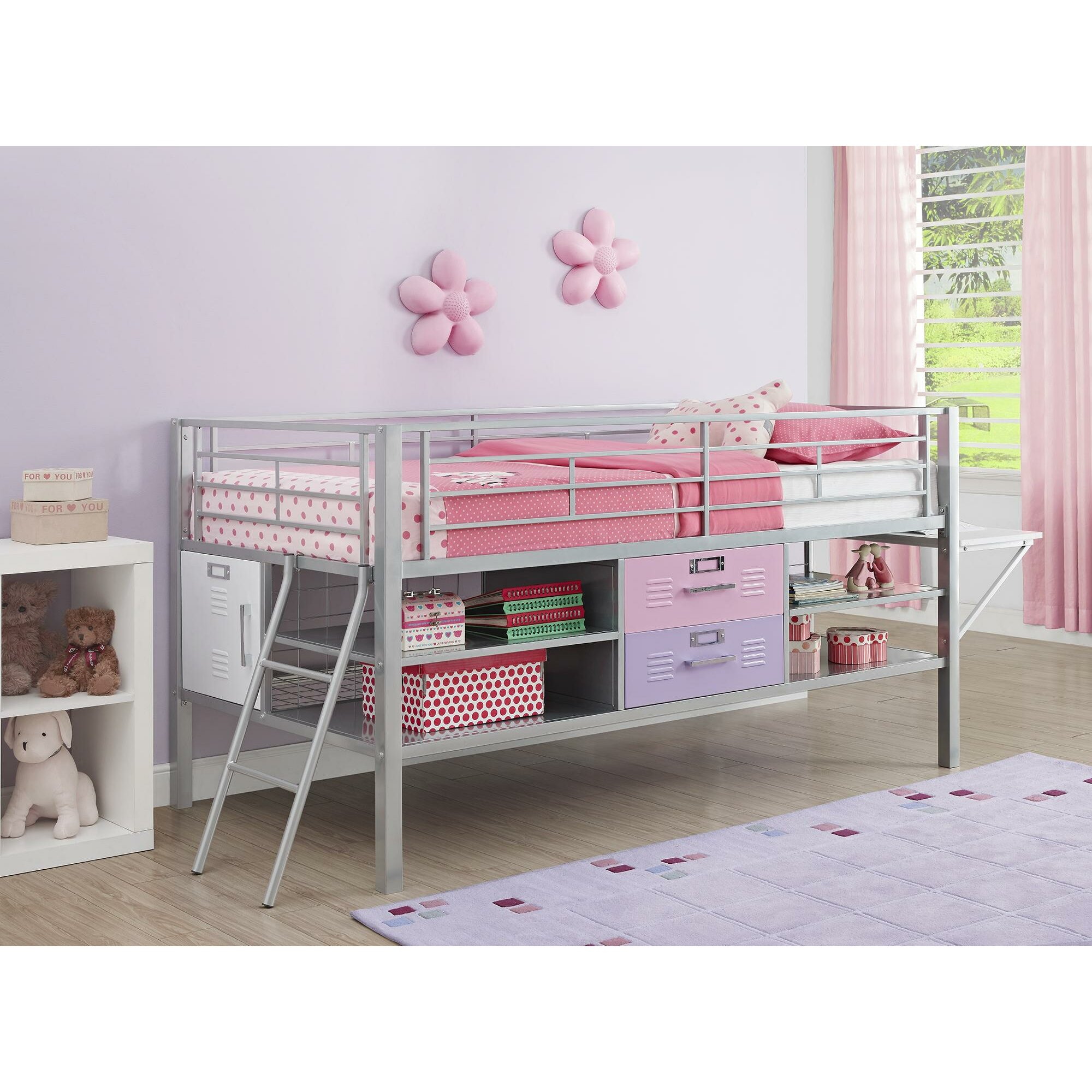 Dhp Junior Twin Loft Bed With Storage Reviews Wayfair
