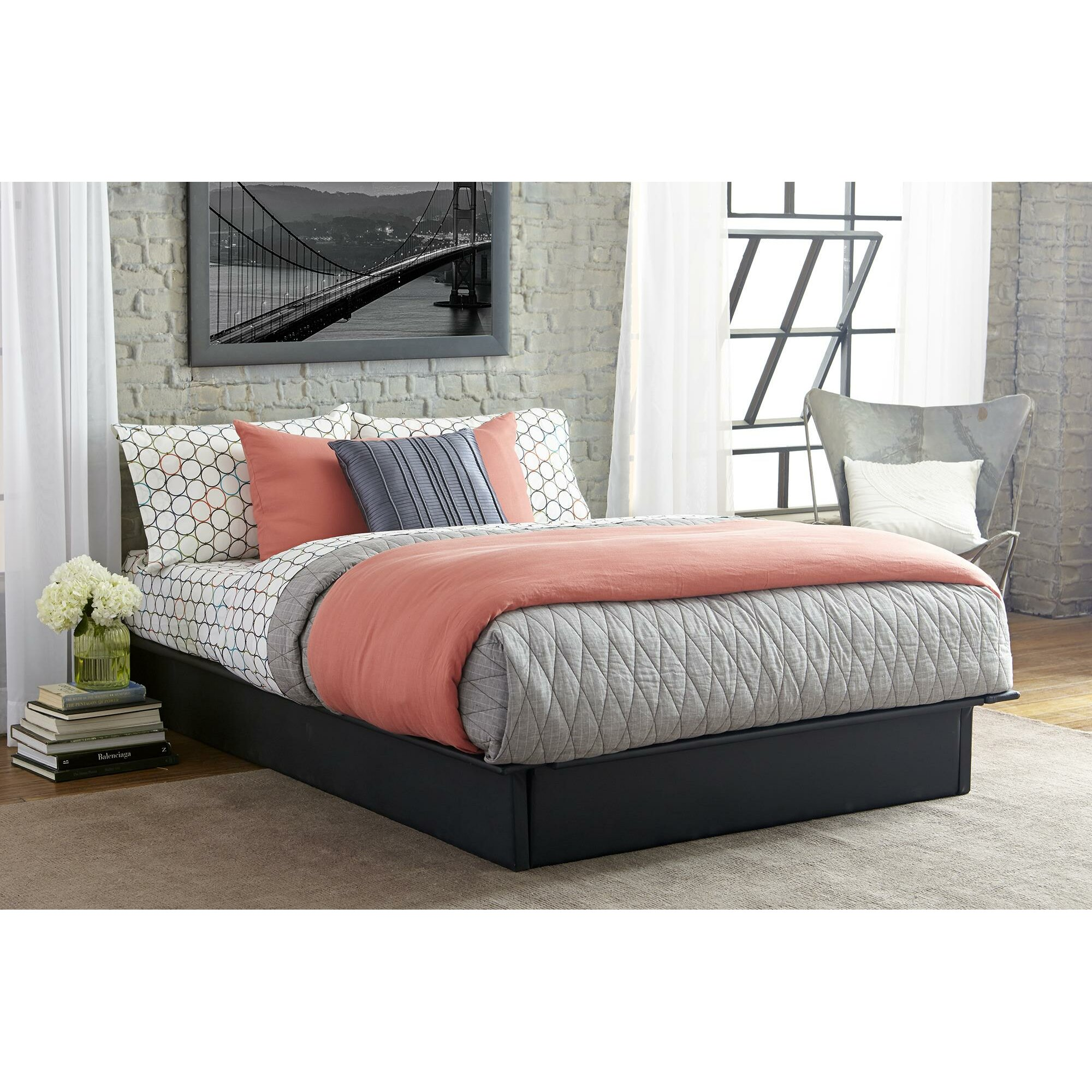Dhp Upholstered Platform Bed Reviews Wayfair