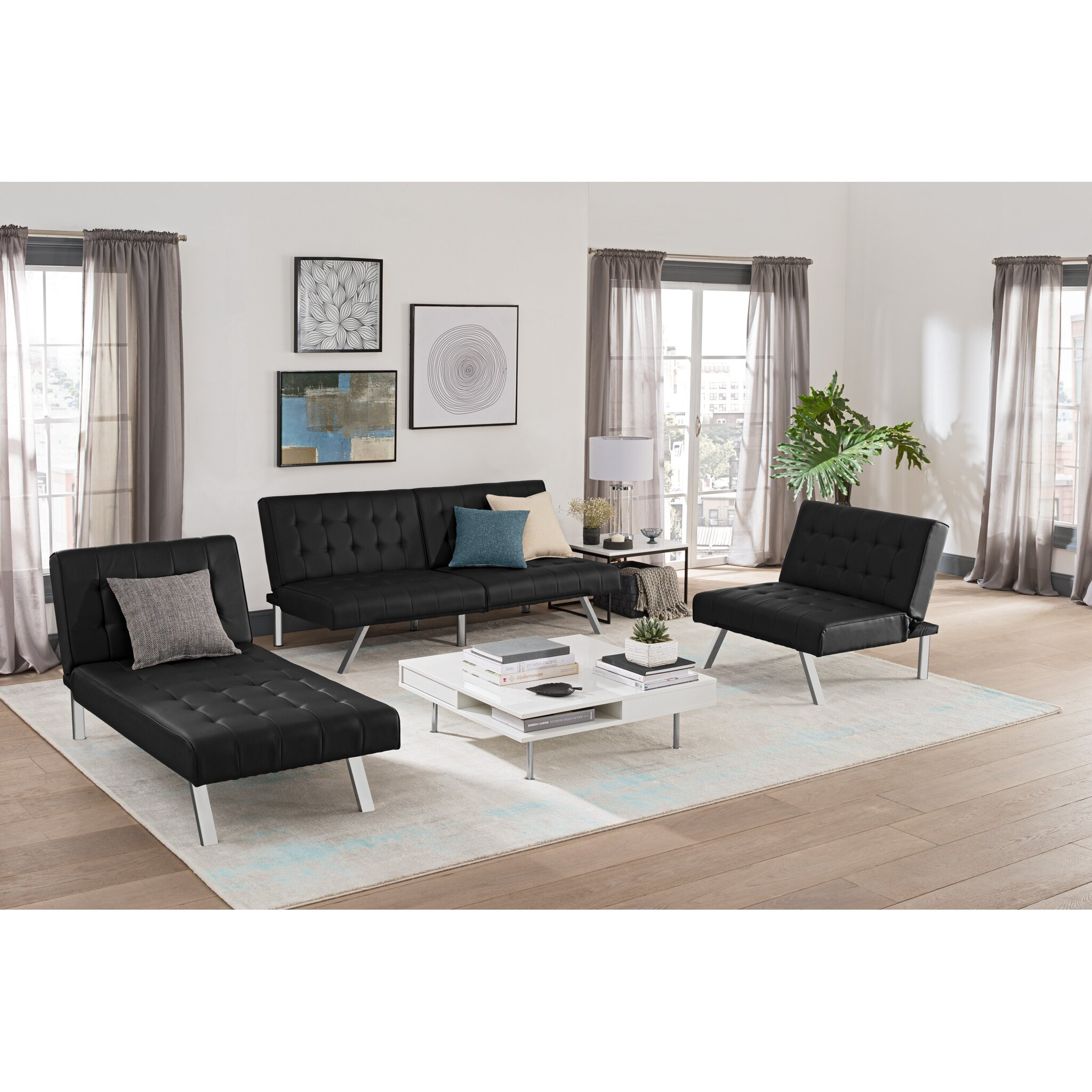 DHP Emily Convertible Futon & Reviews | Wayfair