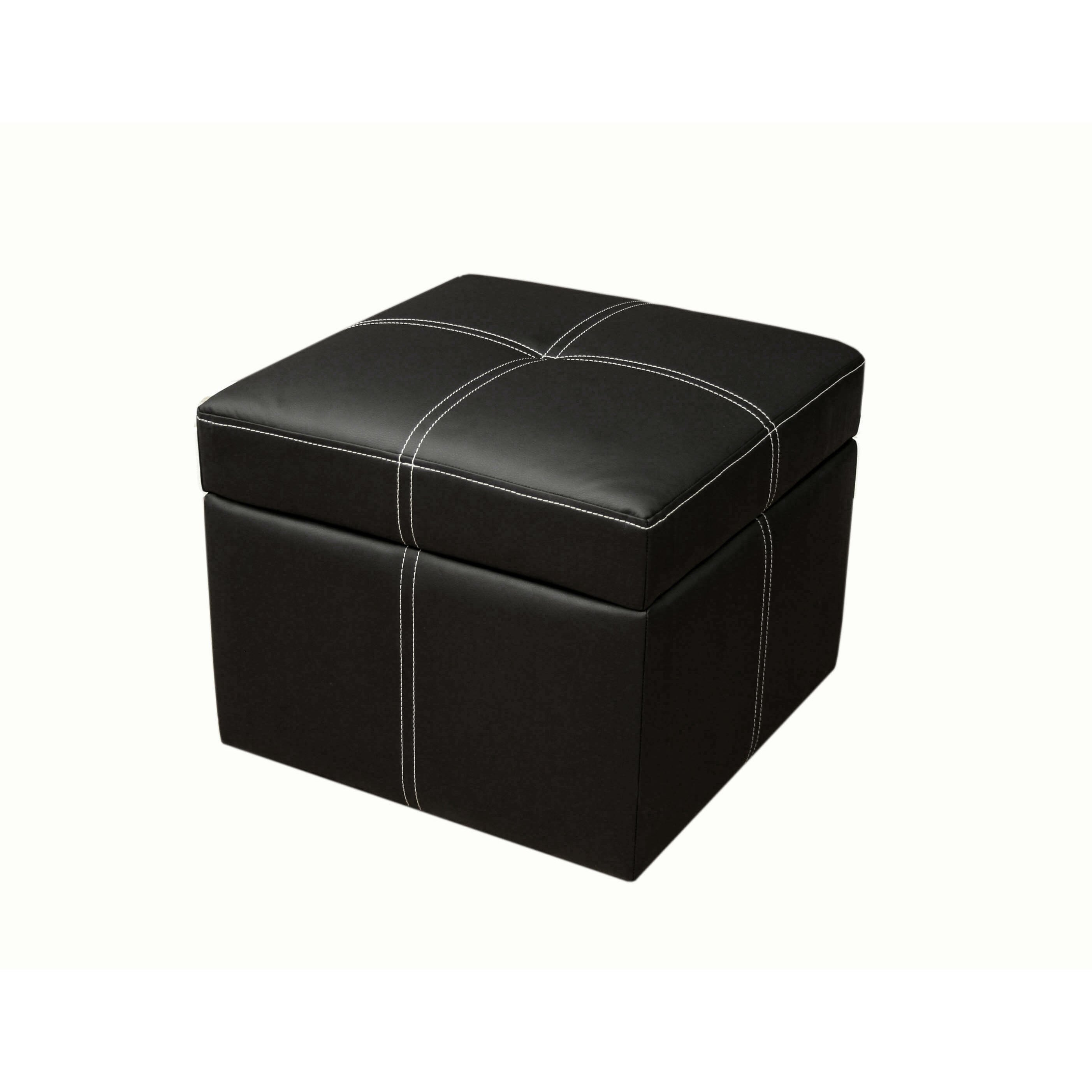 DHP Delaney Small Square Ottoman in Black amp; Reviews  Wayfair