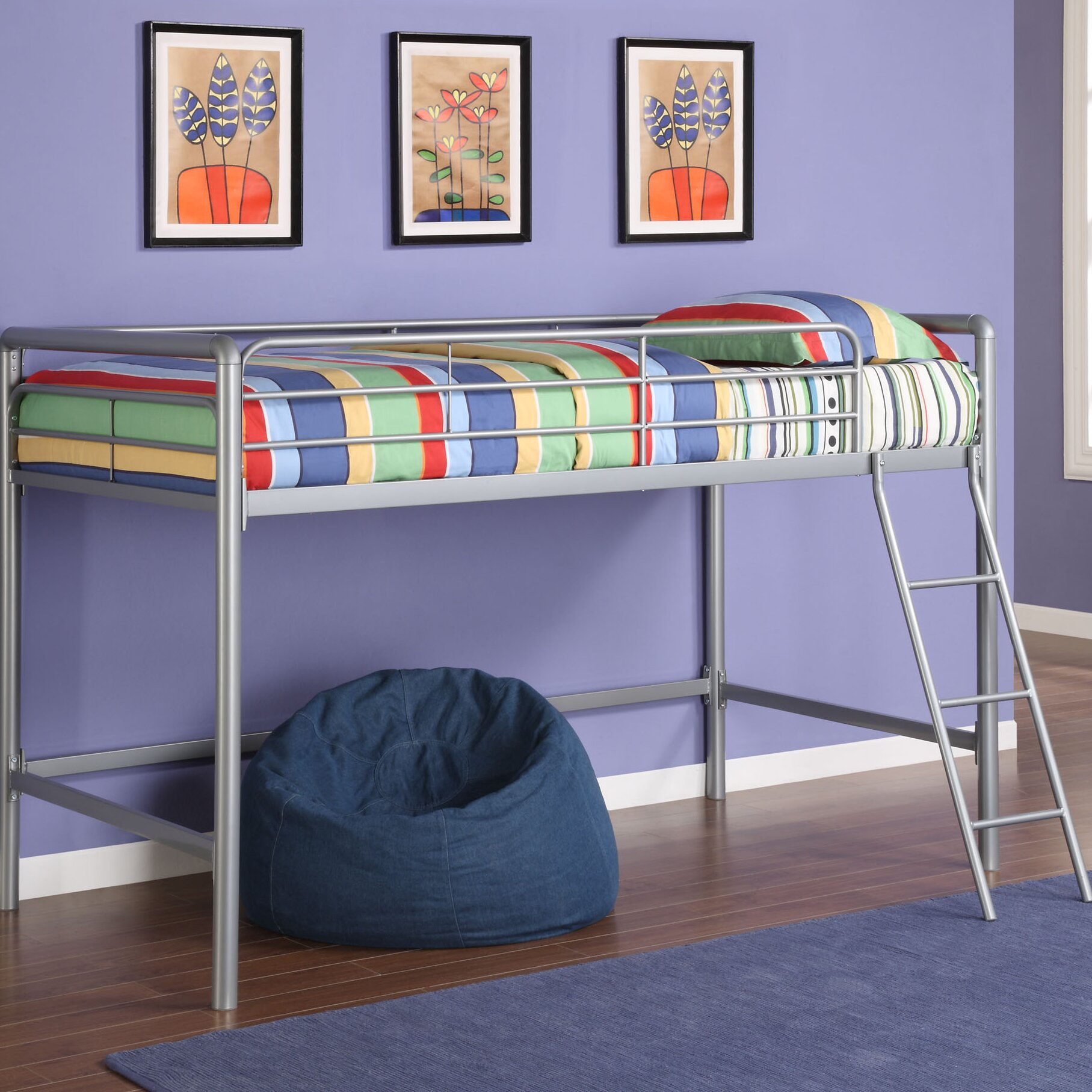 dhp junior twin low loft bed reviews. Black Bedroom Furniture Sets. Home Design Ideas
