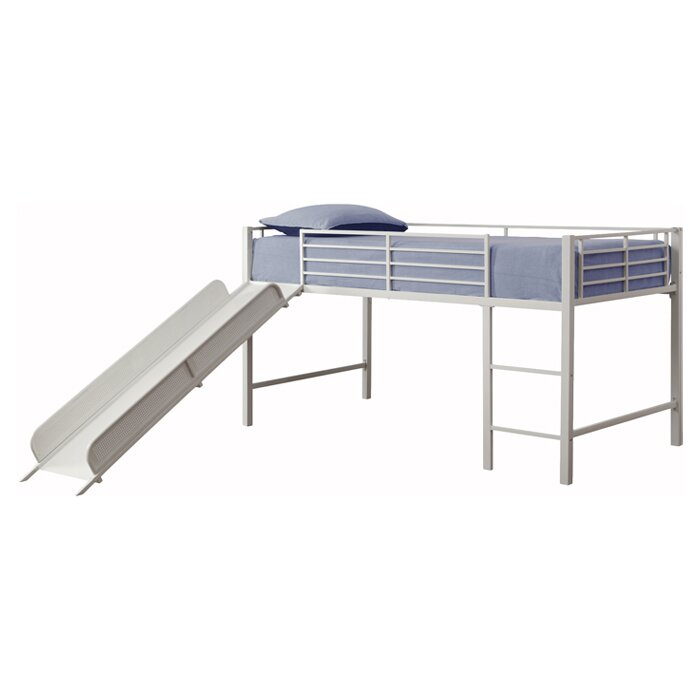 Junior Twin Low Loft Bed By Dhp With Slide
