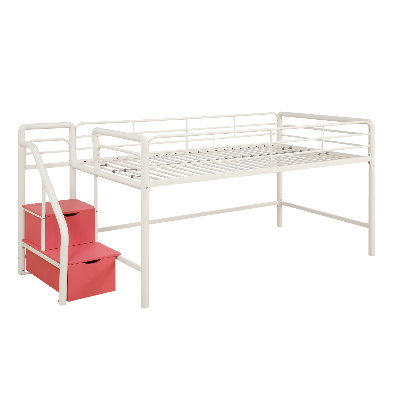 DHP Junior Twin Loft Bed with Storage & Reviews | Wayfair