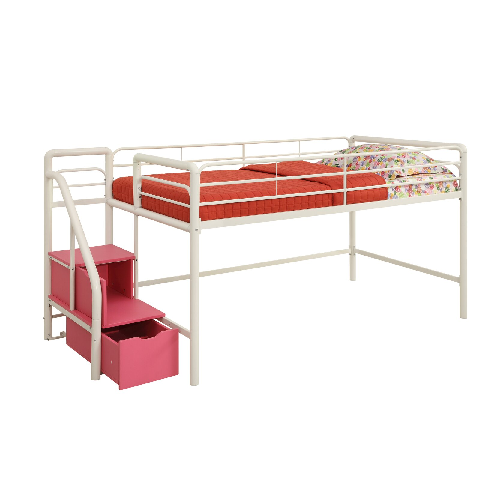 DHP Junior Twin Loft Bed With Storage Amp Reviews