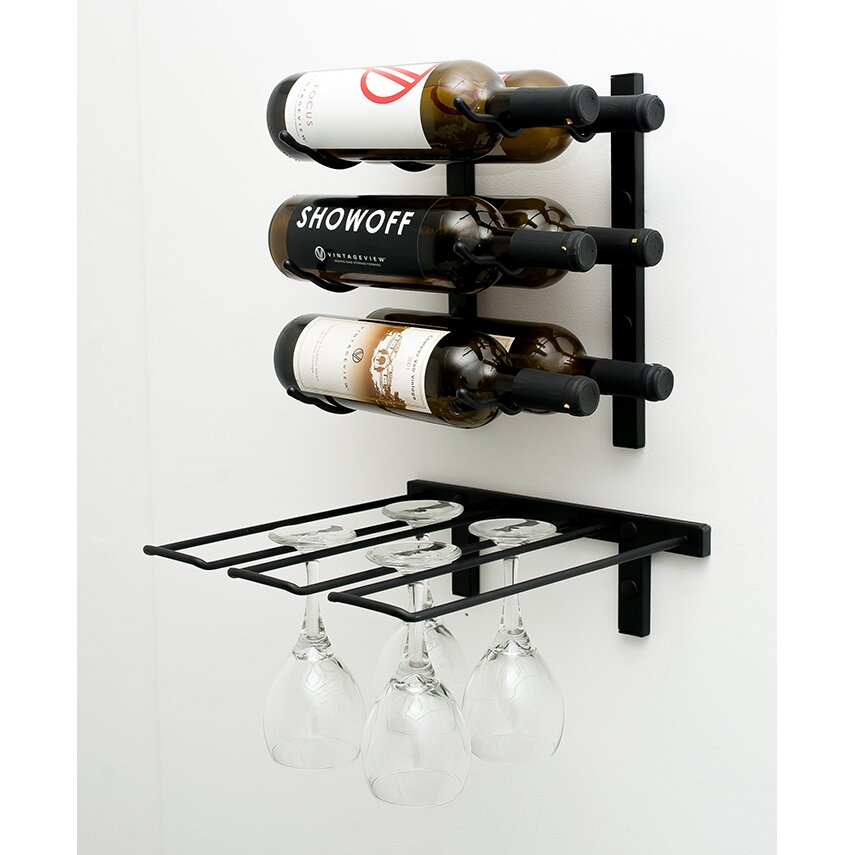 Vintageview Wall Mounted Wine Glass Rack Reviews Wayfair