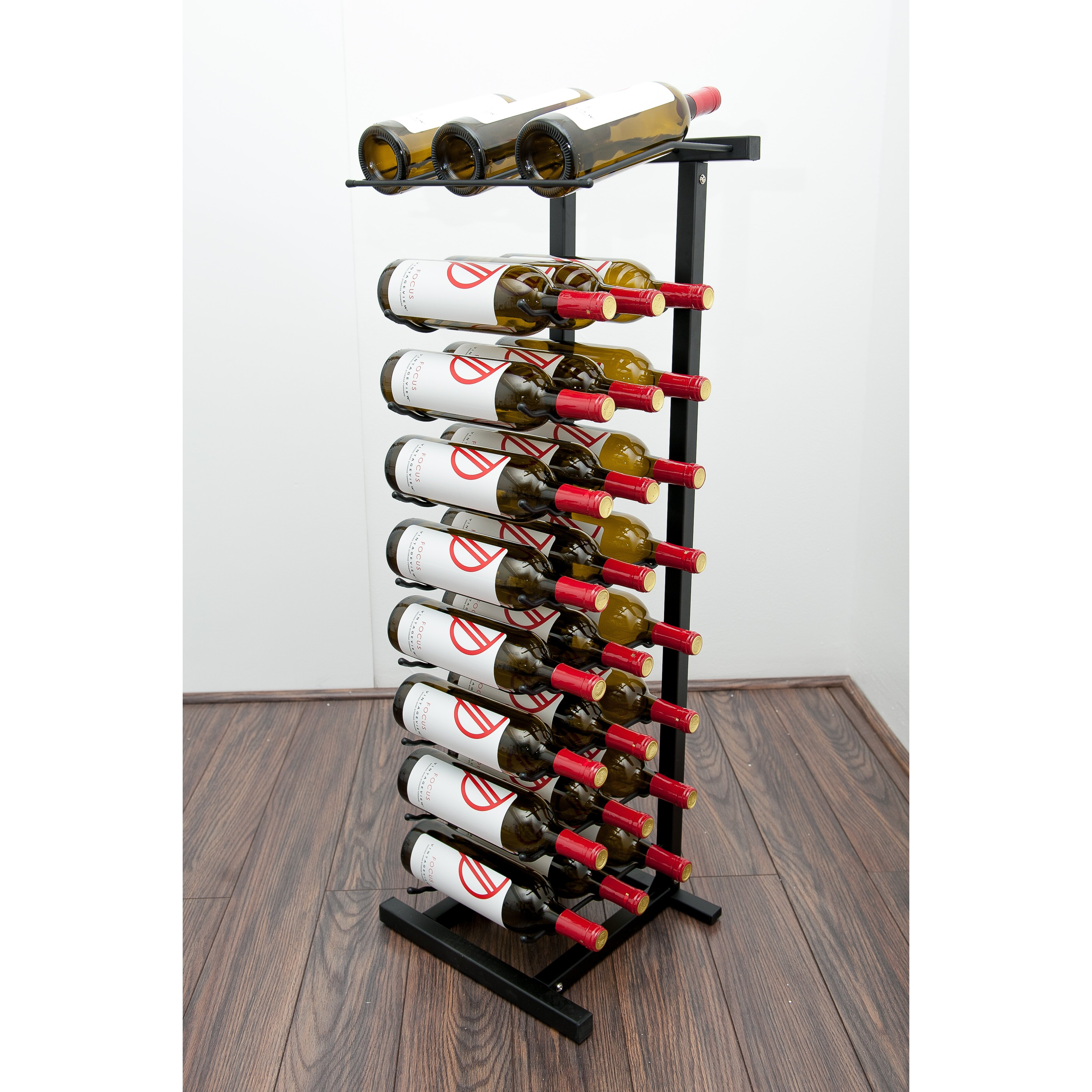 Vintageview idr series 27 bottle floor wine rack reviews for Floor wine rack