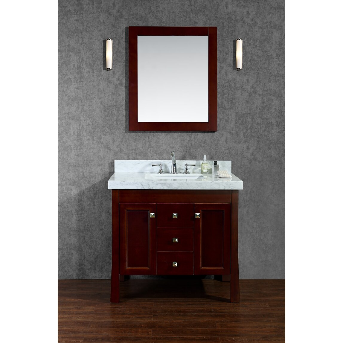 Ariel bath greenbrier 36 single bathroom vanity set with for Bath and vanity set