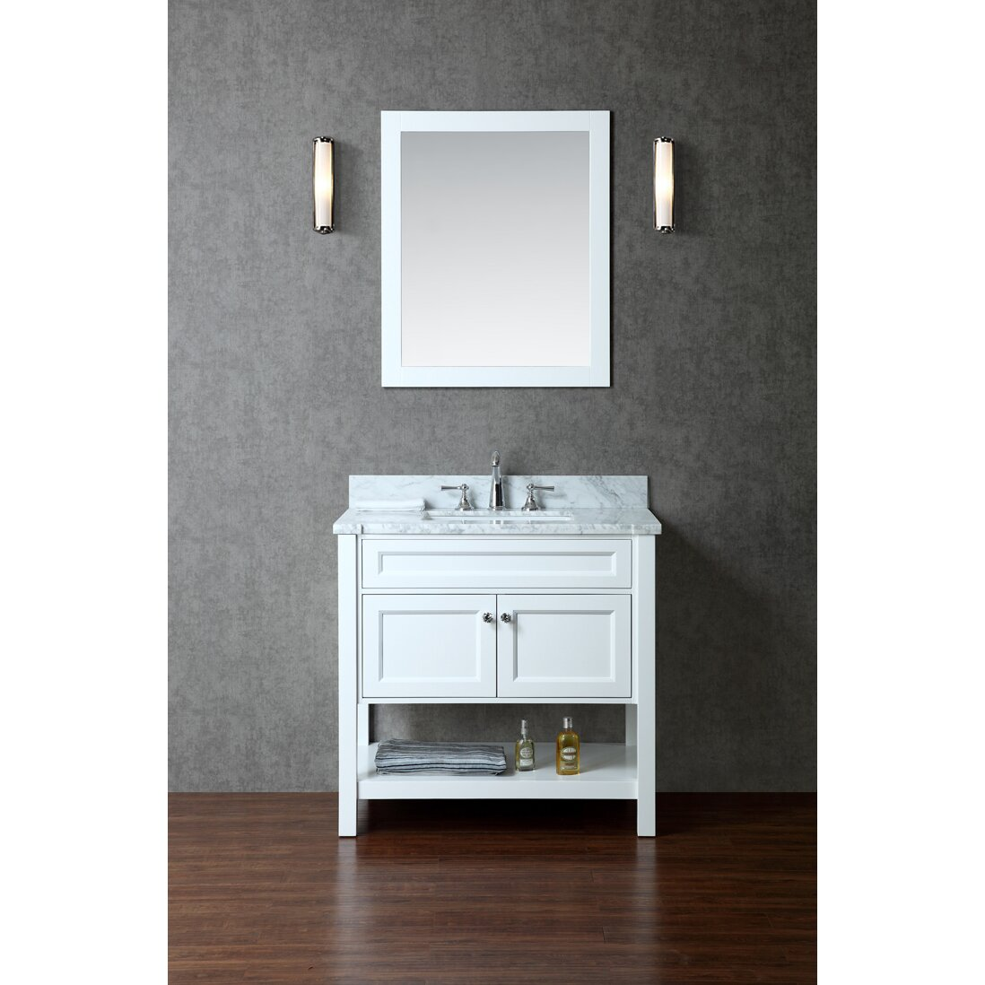 "Ariel Bath Mayfield 36"" Single-Sink Bathroom Vanity Set ..."