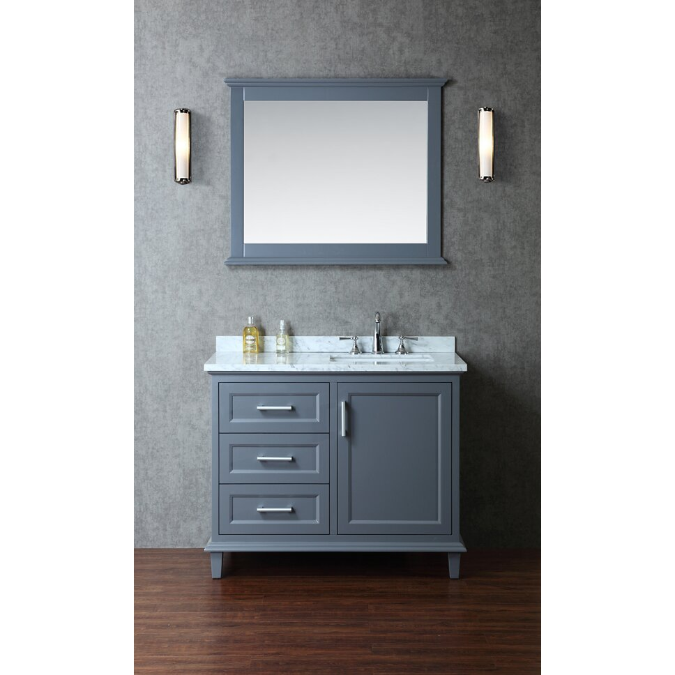 Ariel Bath Nantucket 42 Single Bathroom Vanity Set With Mirror Reviews Wayfair