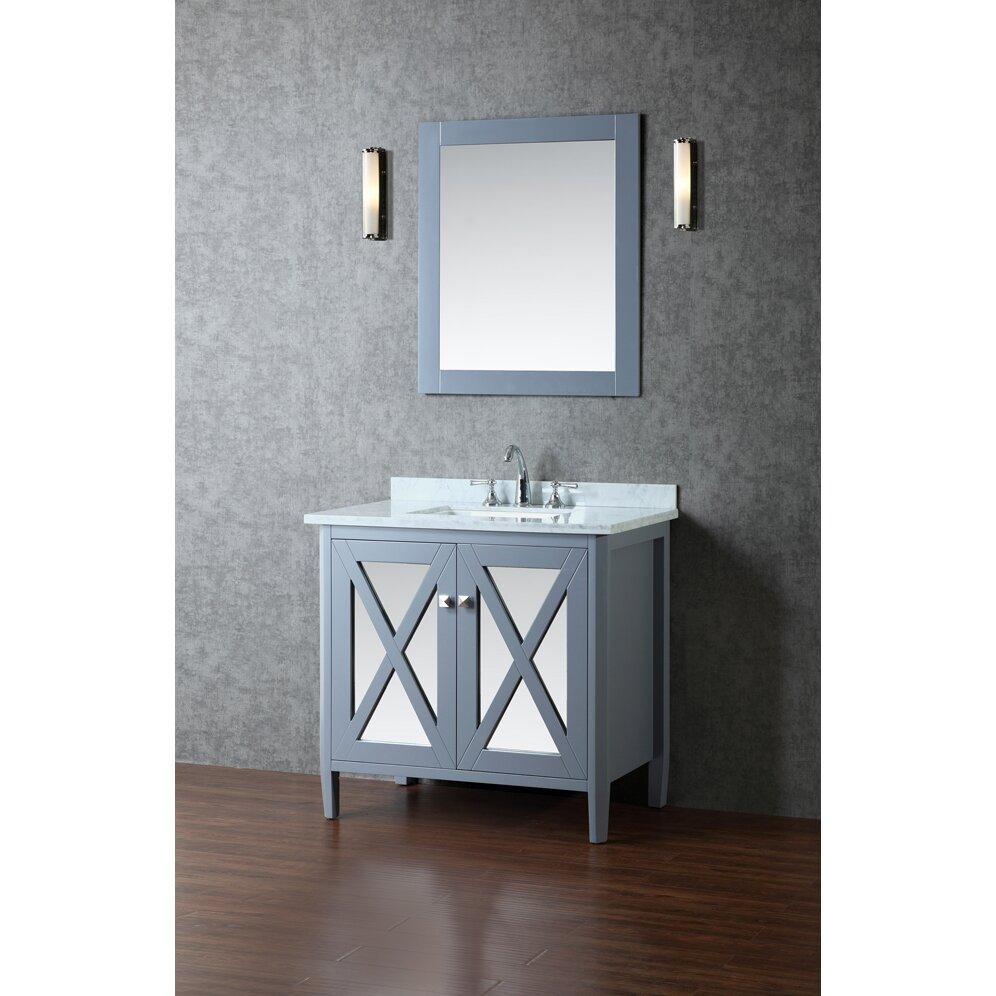 Ariel Bath Summit 36 Single Bathroom Vanity Set With Mirror Revie
