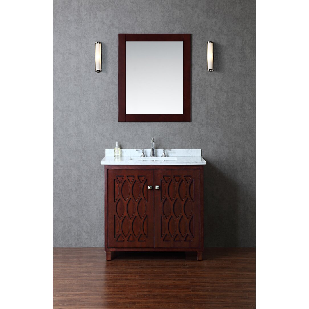 Ariel Bath Turnberry 36 Single Bathroom Vanity Set With Mirror Re