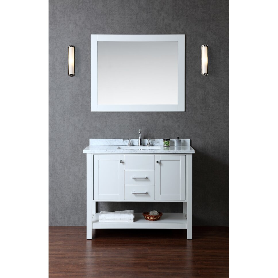 Ariel bath bayhill 42 single bathroom vanity set with for Bath and vanity set
