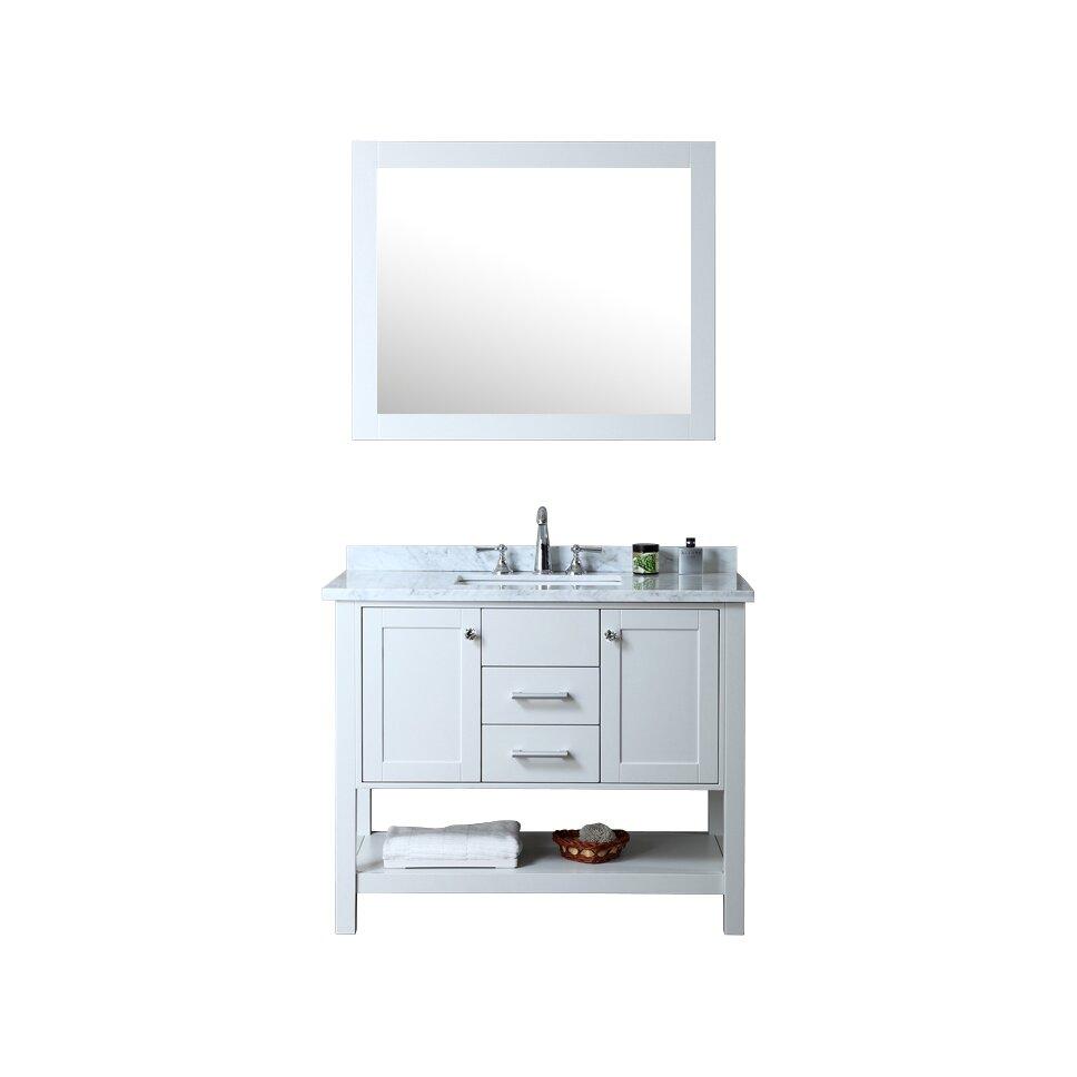 ariel bath bayhill 42 quot single bathroom vanity set with
