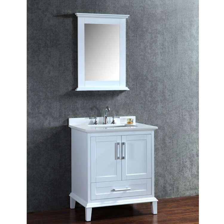 Ariel Bath Nantucket 30 Single Sink Bathroom Vanity Set With Mirror Am