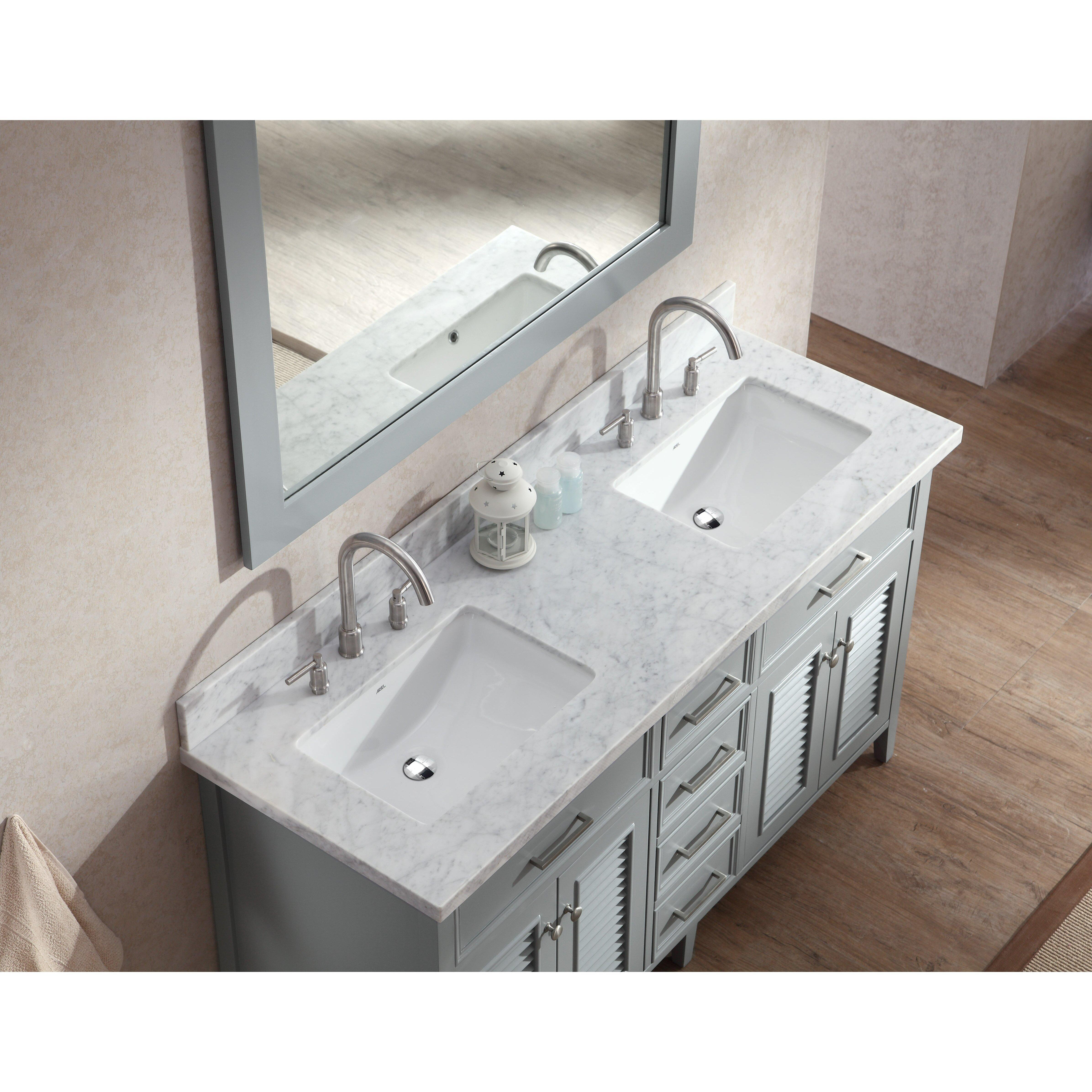 Ariel Bath Kensington 61 Double Bathroom Vanity Set With