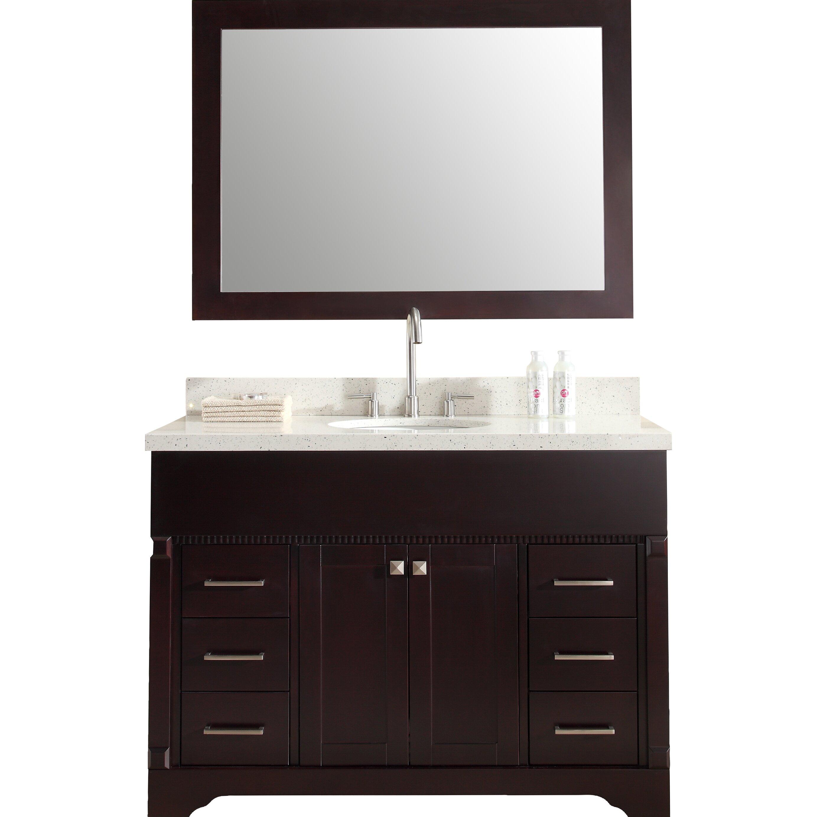 Ariel Bath Stafford 49 Single Sink Vanity Set With Mirror