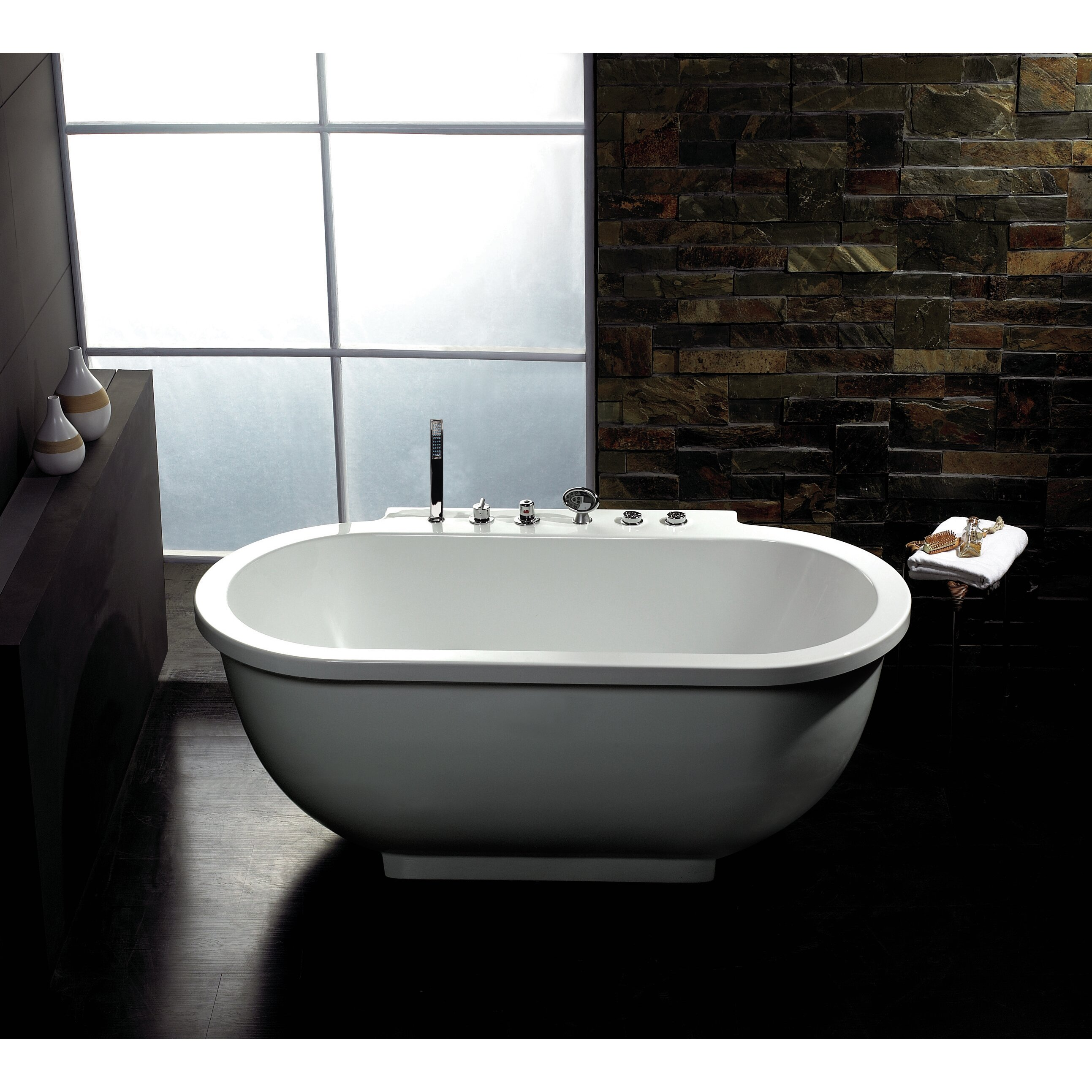 Ariel bath 71 x 37 whirlpool bathtub reviews wayfair for Bathroom bath
