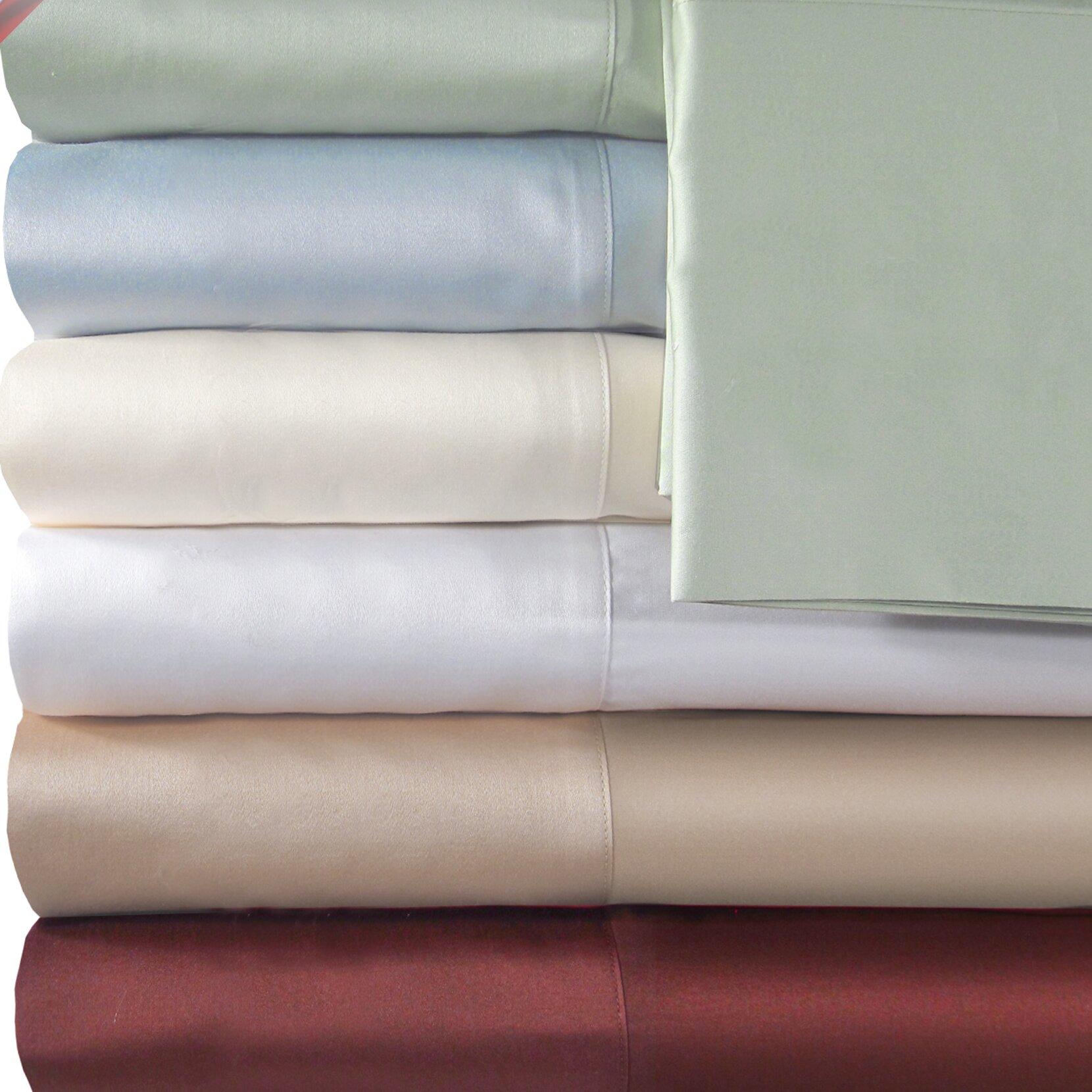 veratex supreme sateen 500 thread count solid sheet set reviews wayfair. Black Bedroom Furniture Sets. Home Design Ideas