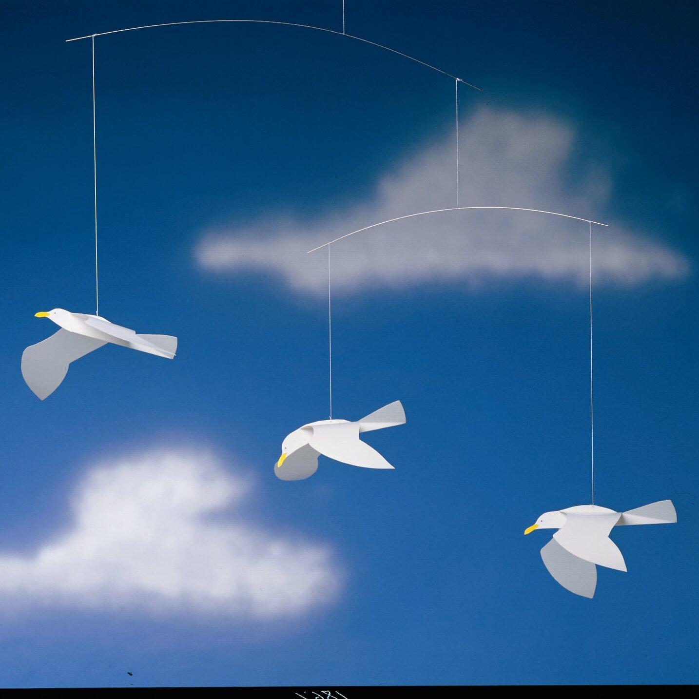 flensted mobiles soaring seagulls mobile reviews wayfair. Black Bedroom Furniture Sets. Home Design Ideas