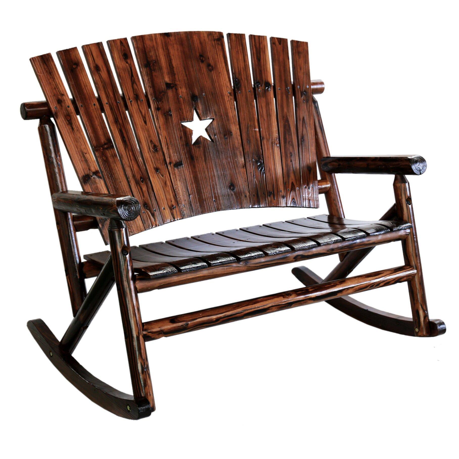LeighCountry Char-Log Star Double Rocking Chair II & Reviews  Wayfair