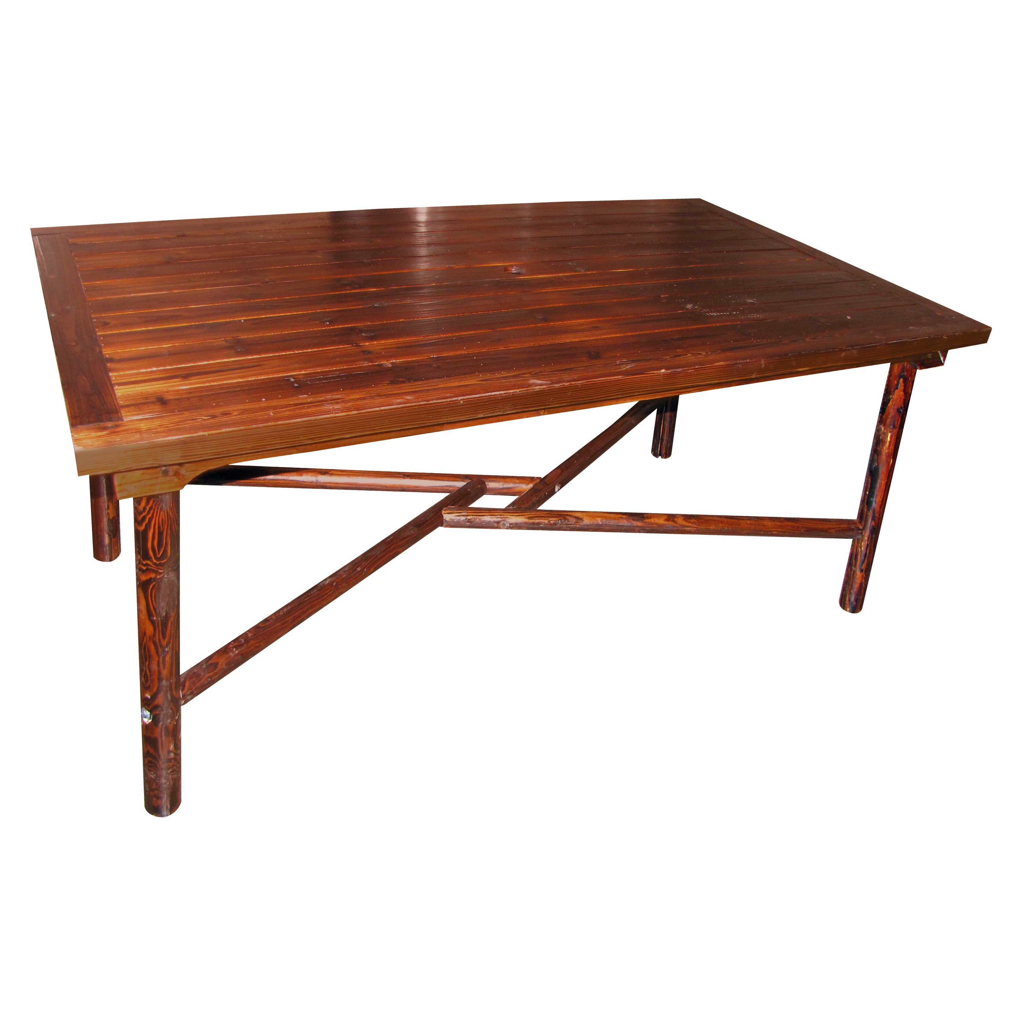 Leighcountry char log dining table wayfair for Wayfair dining table