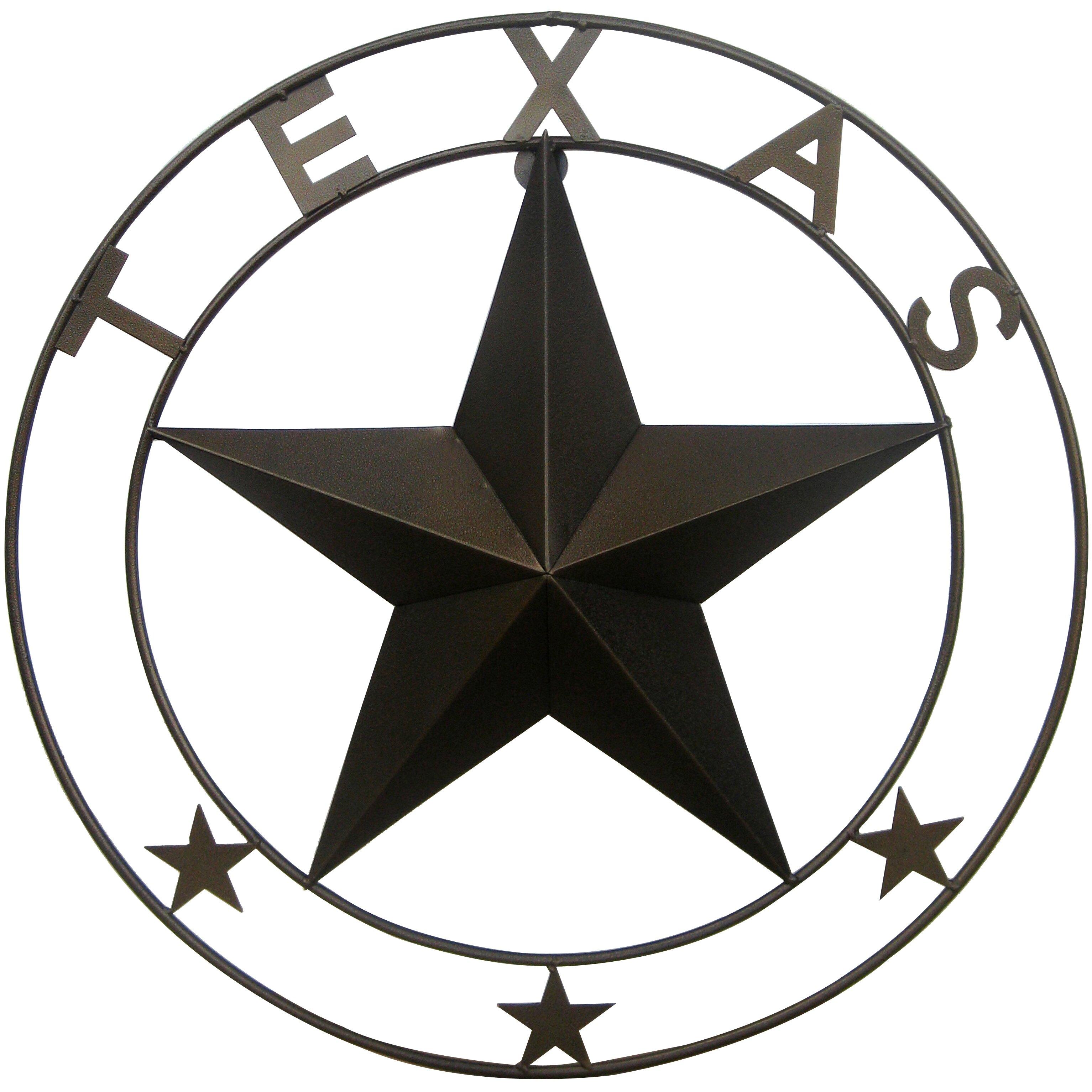 Glass Star Wall Decor : Leighcountry double ringed texas star wall d?cor reviews