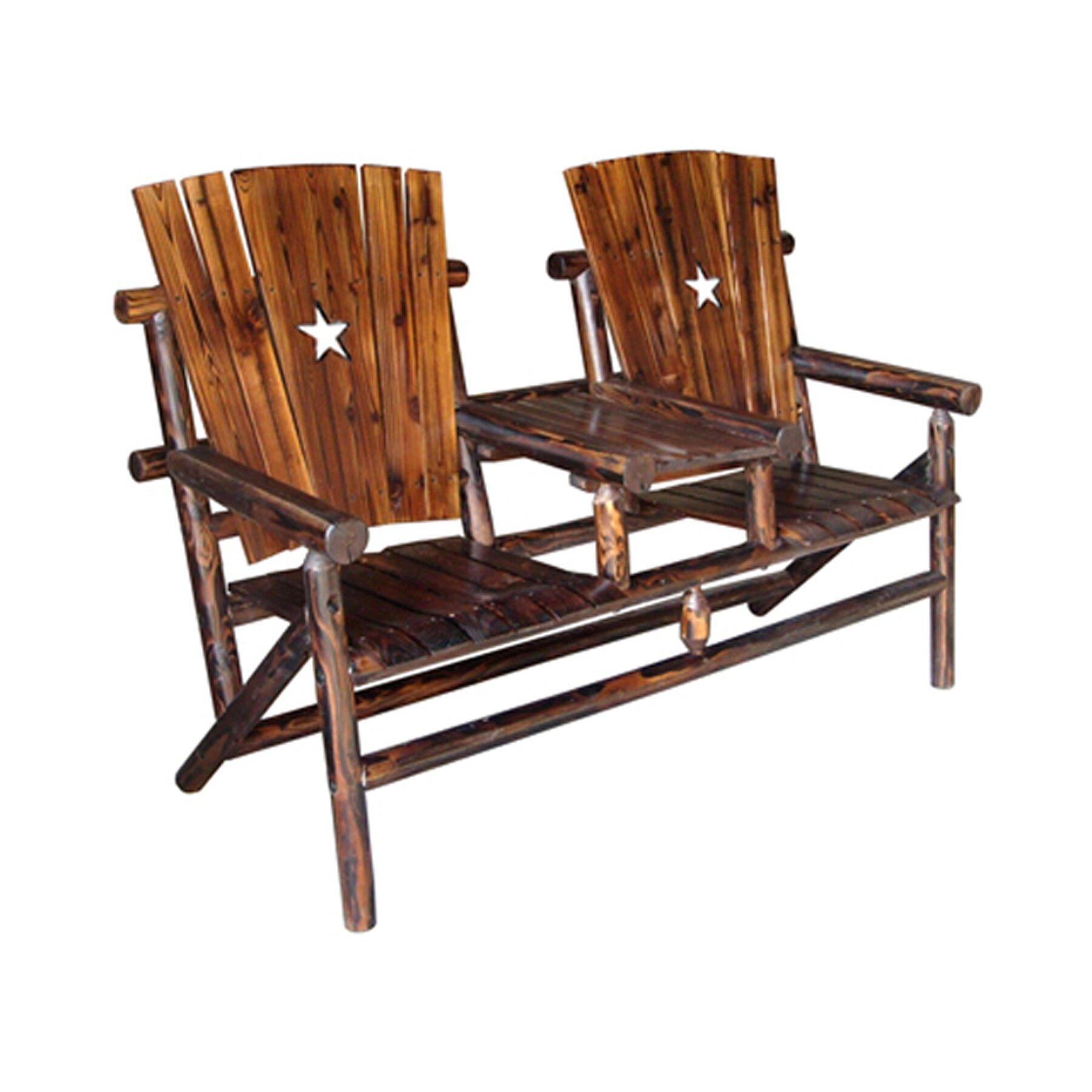 Leighcountry Char Log Cut Out Star Double Arm Chair I