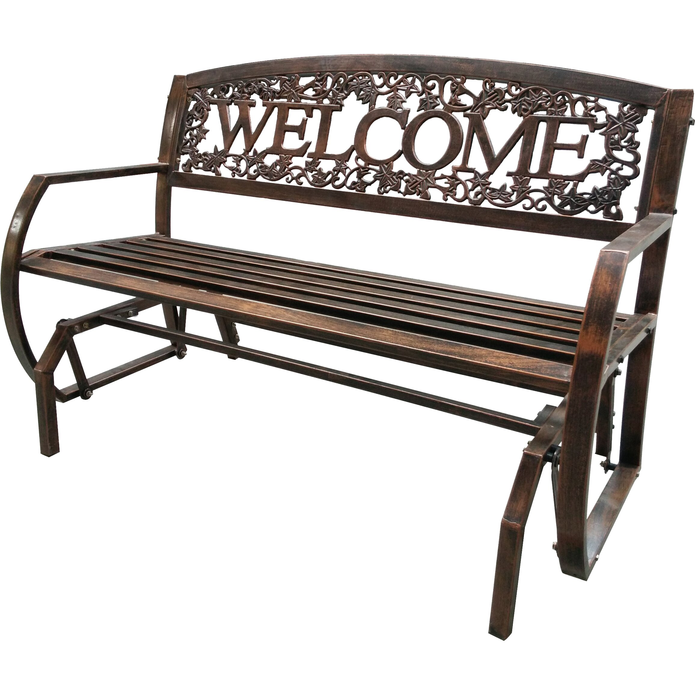 Leighcountry Welcome Double Glider Bench Wayfair