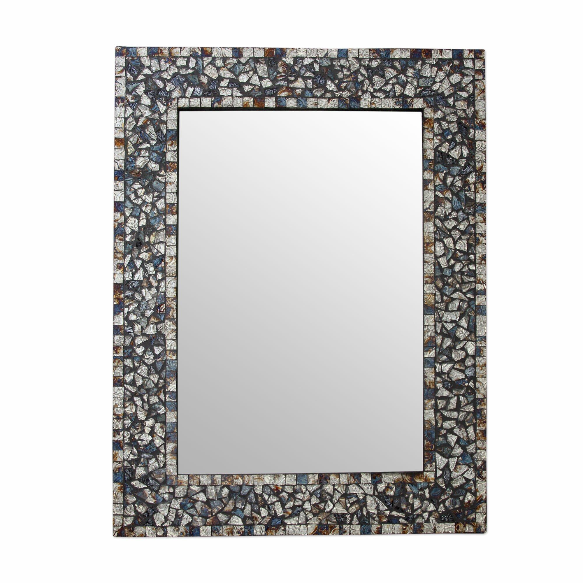 Novica Glass Mosaic Wall Mirror : Wayfair