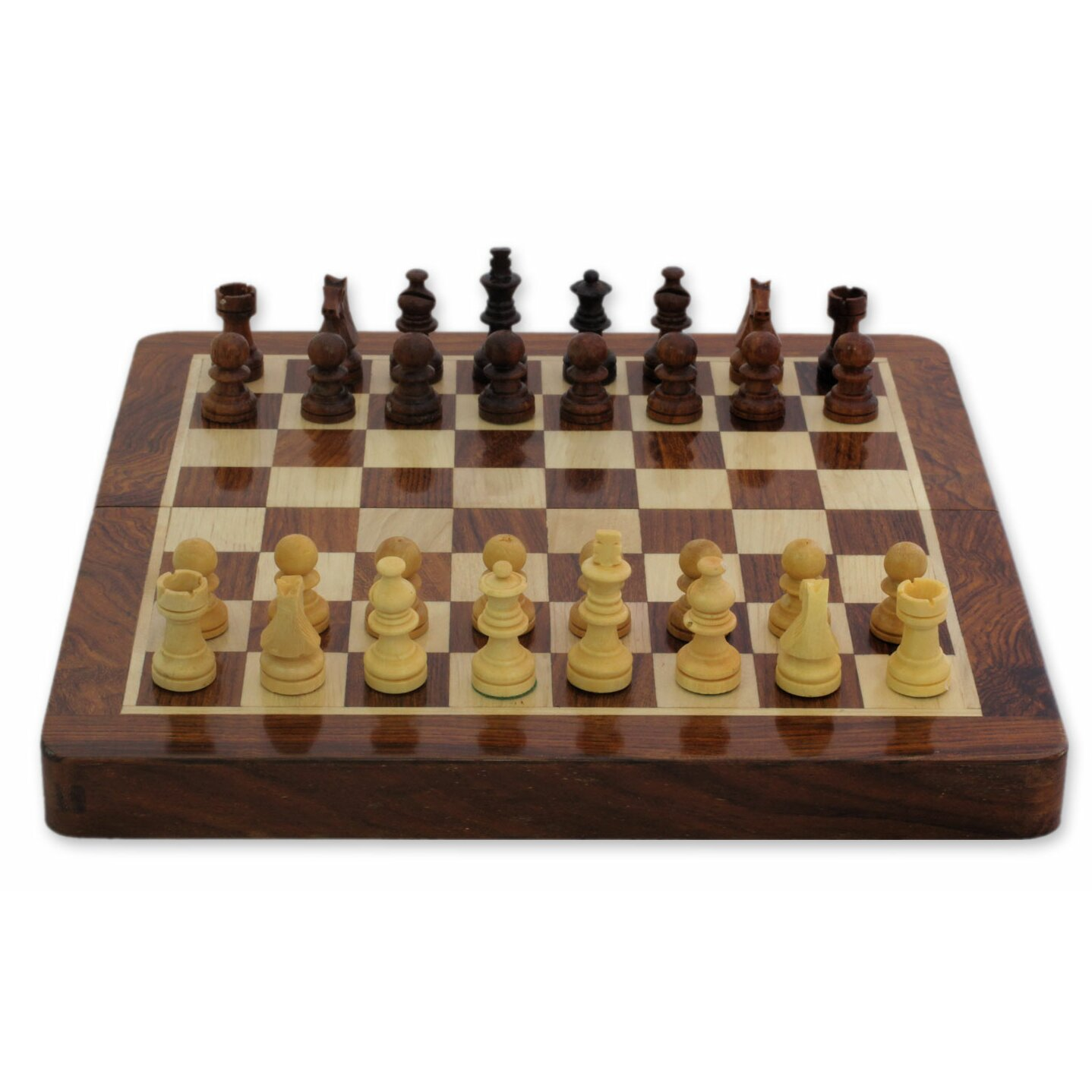 Novica rakesh pathak decorative play twice wood chess and backgammon set wayfair - Ornate chess sets ...
