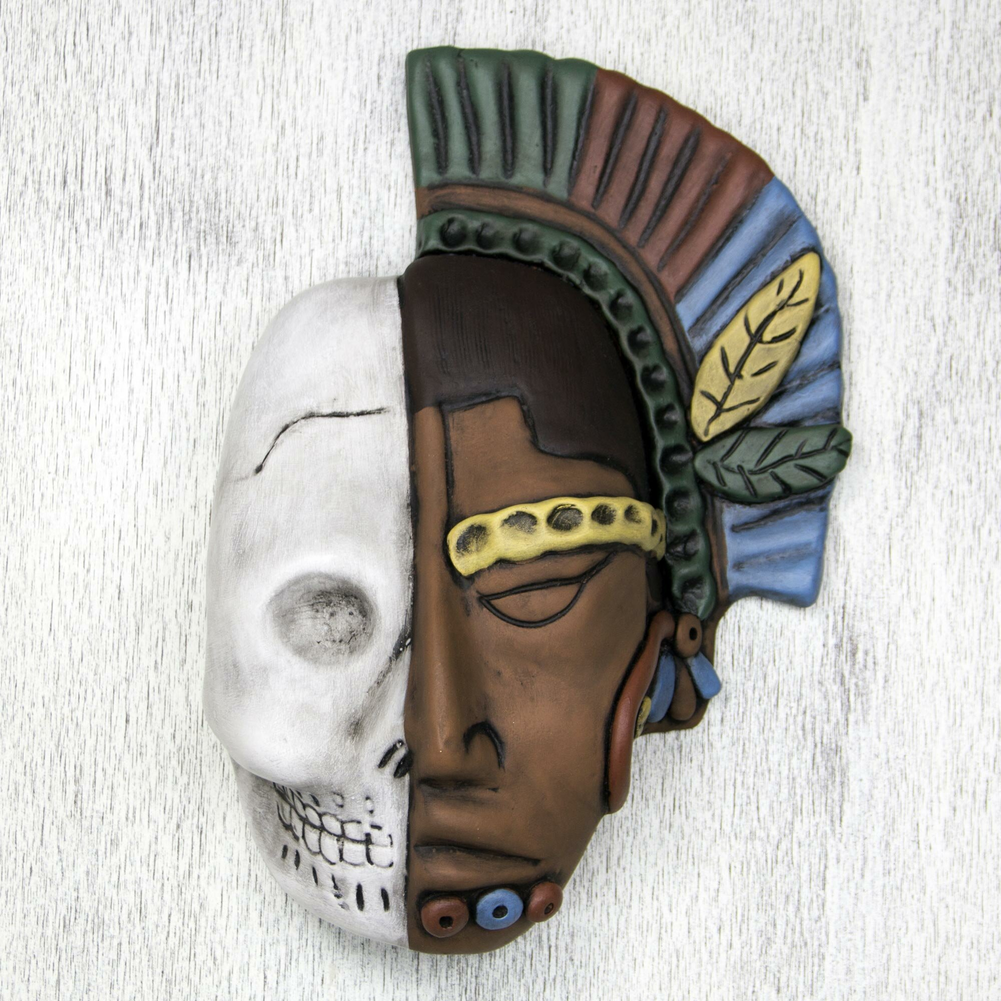 Wall Decoration With Masks : Novica life and ceramic mask wall d?cor wayfair