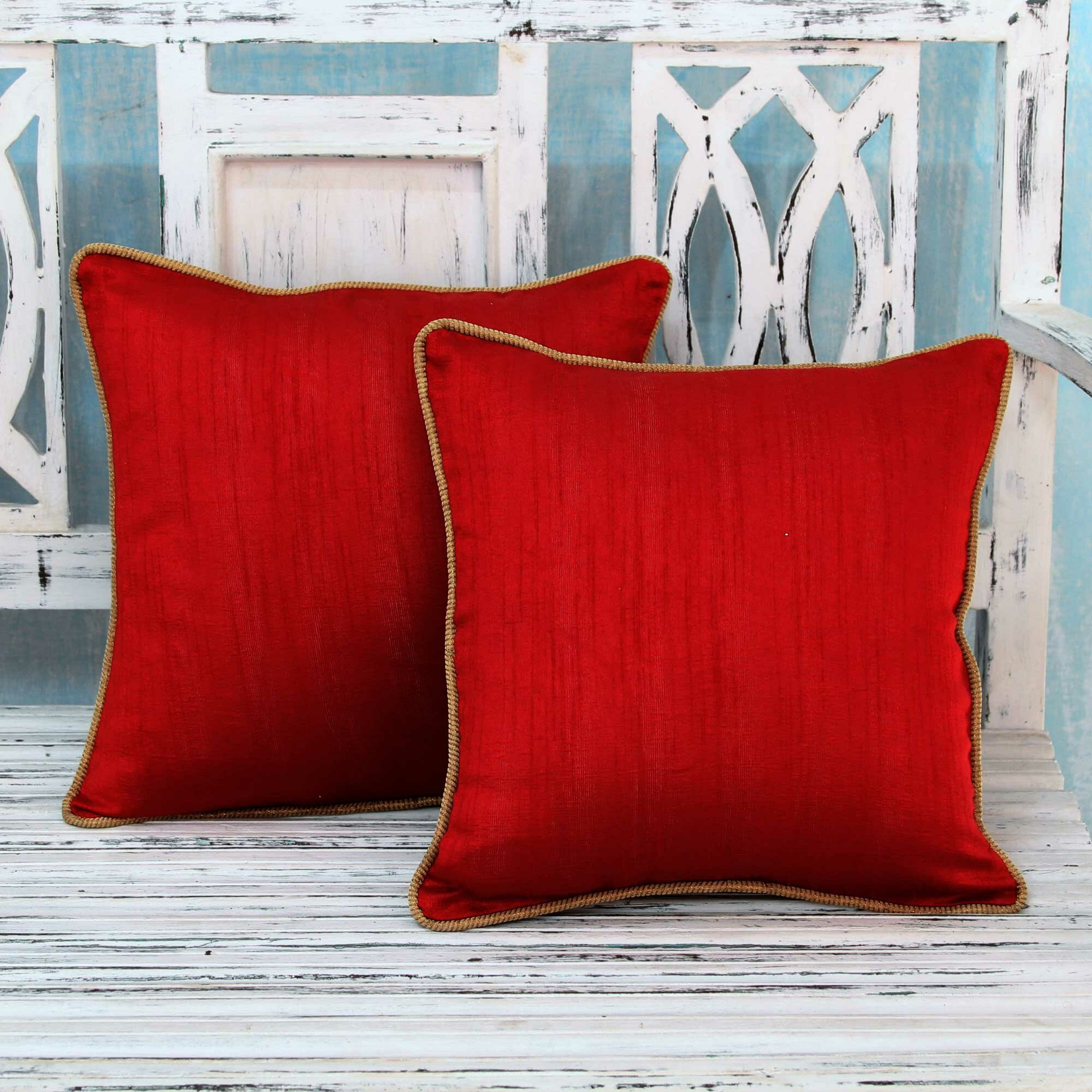 Wayfair Decorative Pillow Covers : Novica Elegant Pillow Cover Wayfair