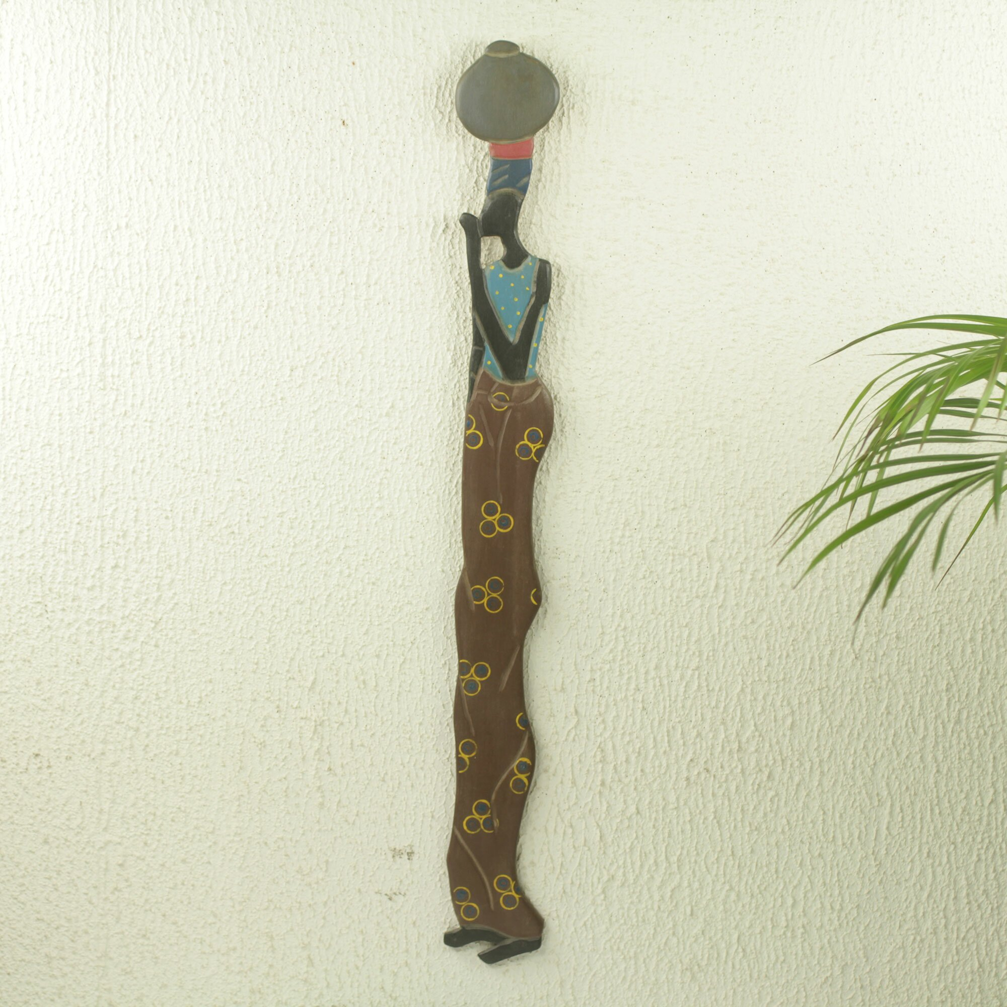 Novica maatan biki unique of ghanaian woman african wood for African wall decoration