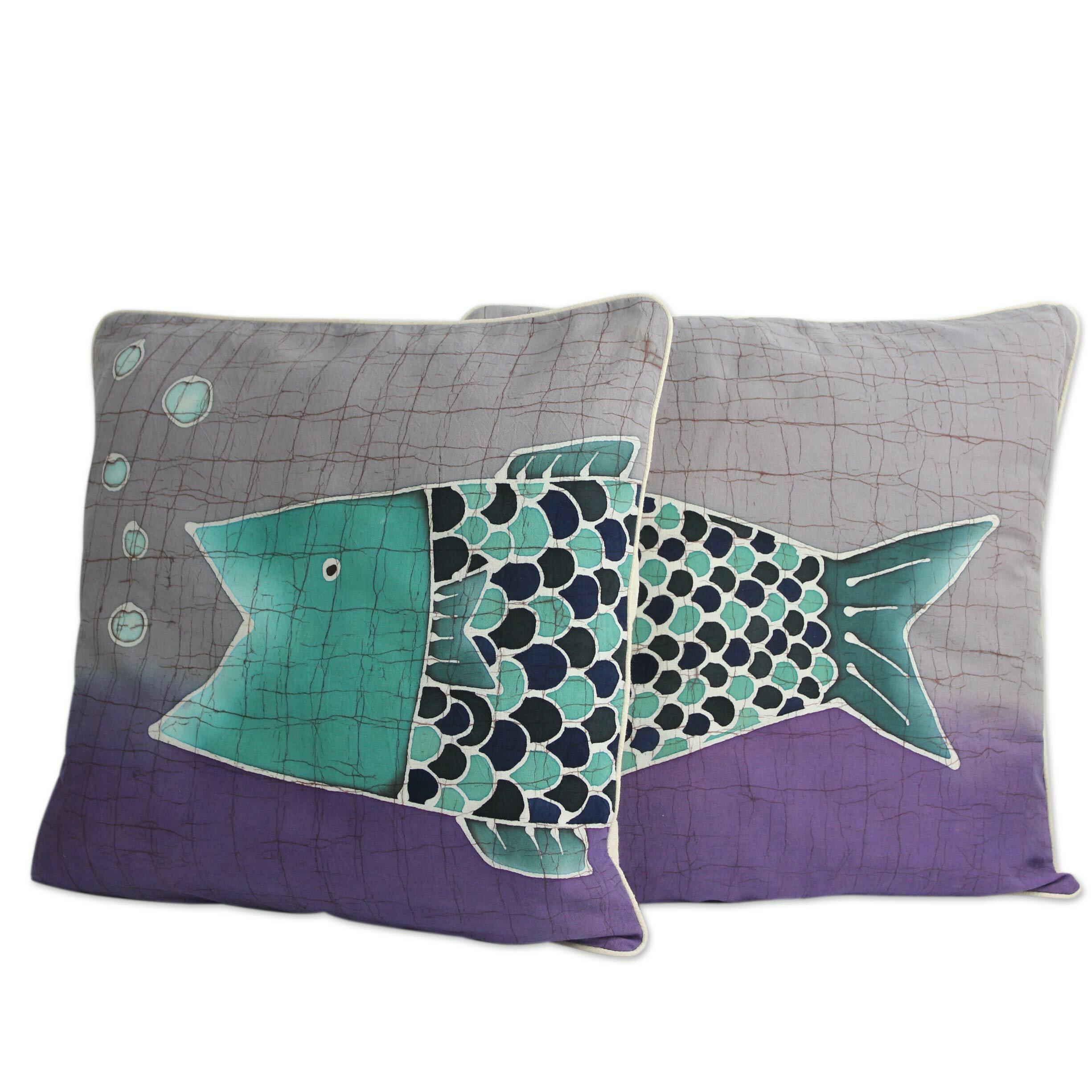 Throw Pillows Horchow : Novica Alaya Cholprasertsuk Handmade Batik Cotton Throw Pillow Cover Wayfair.ca