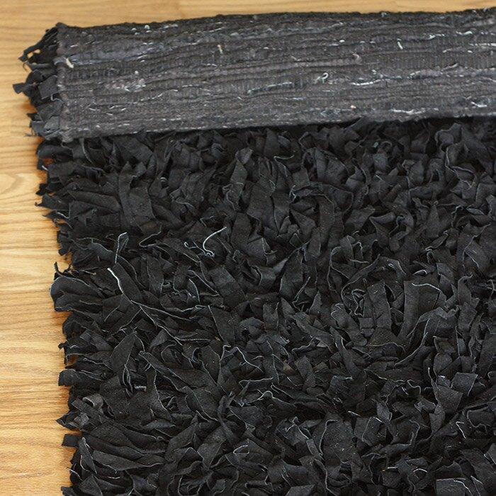 Nuloom Leather Shag Woven Black Area Rug Amp Reviews Wayfair