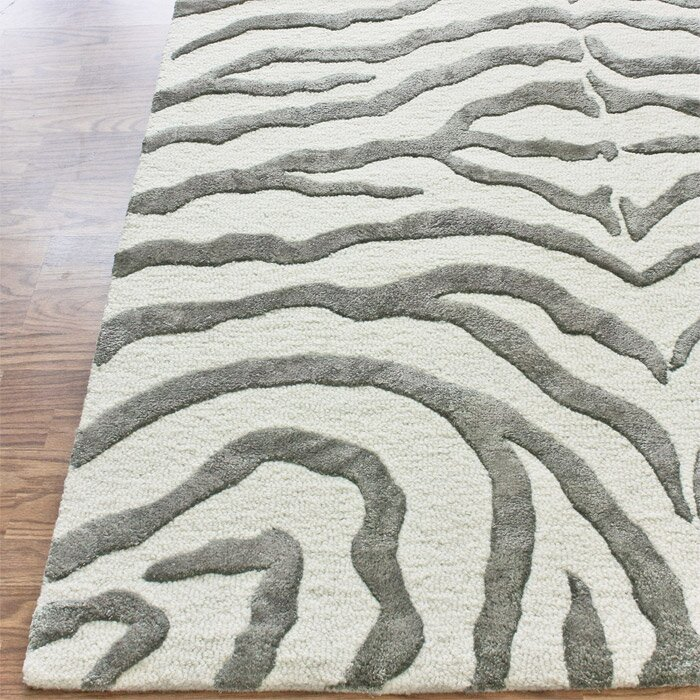 Zebra Rug Wayfair: NuLOOM Earth Soft Zebra Gray Area Rug & Reviews